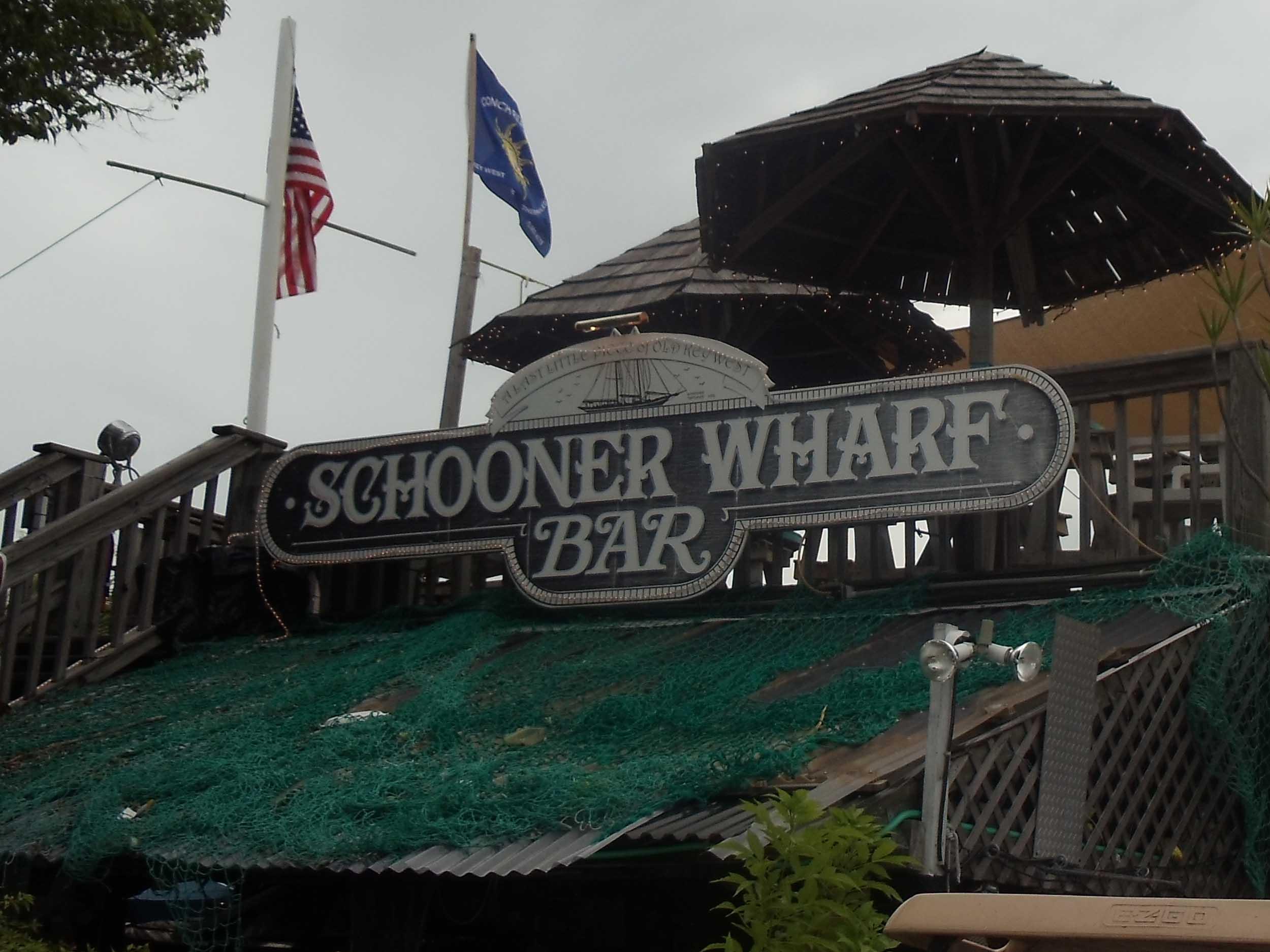 Schooner Wharf Bar Sign