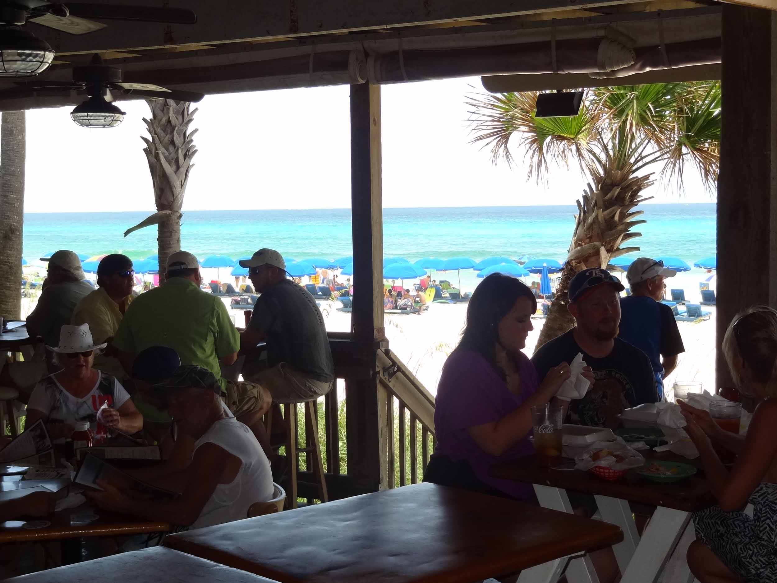 Schooners Seating Area and Beach View