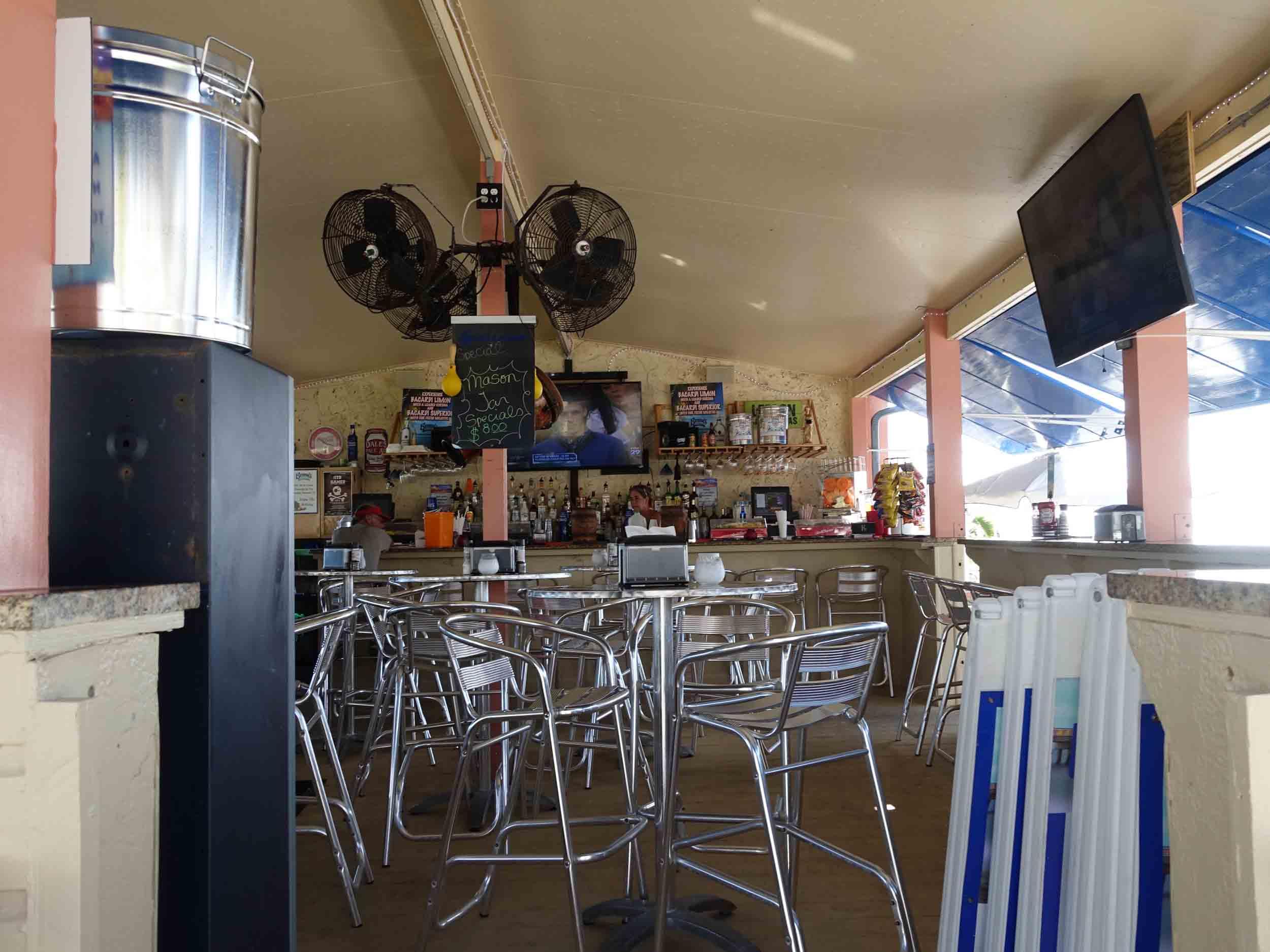 Benny's on the Beach Inside Bar