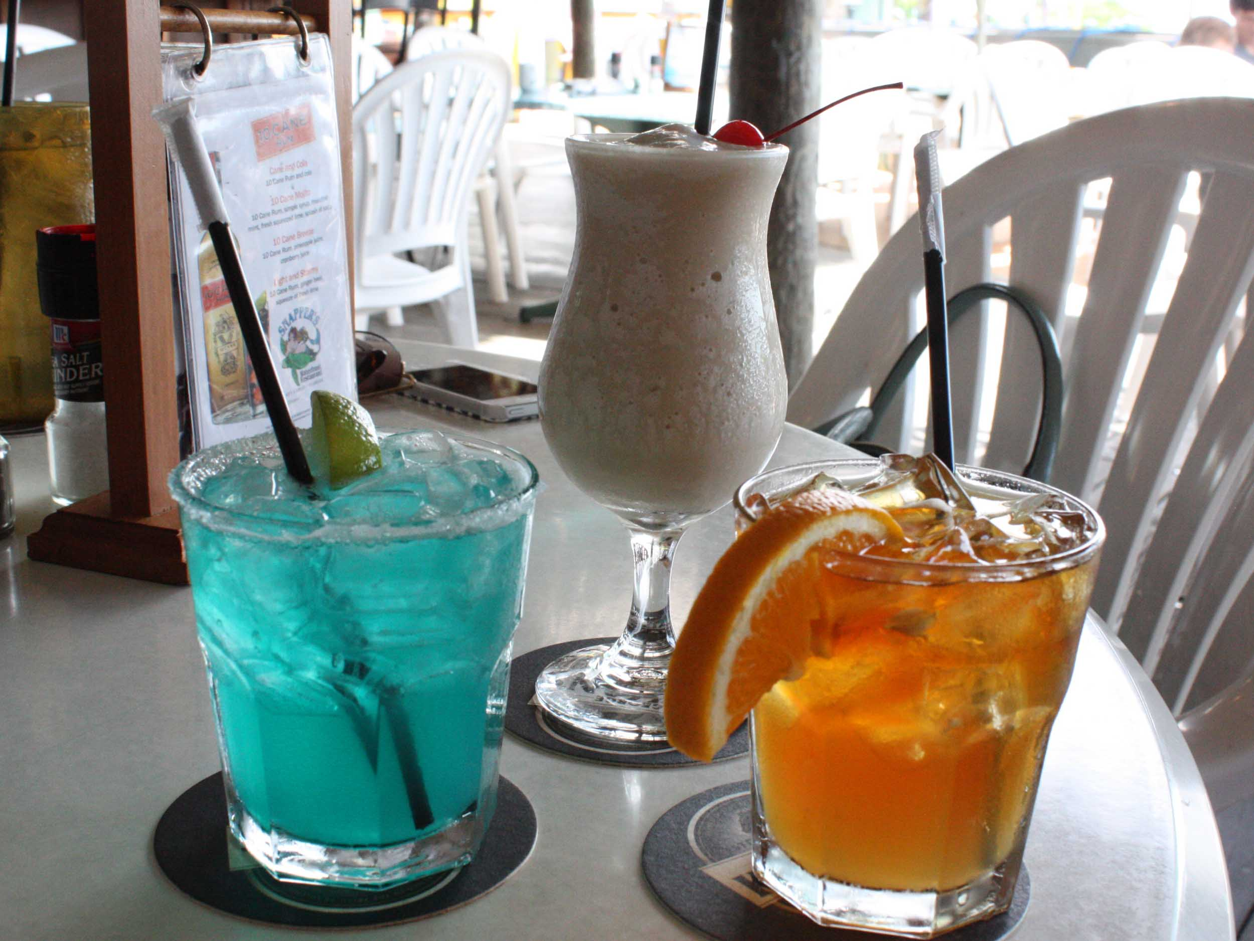 Snapper's Waterfront Restaurant Tropical Drinks