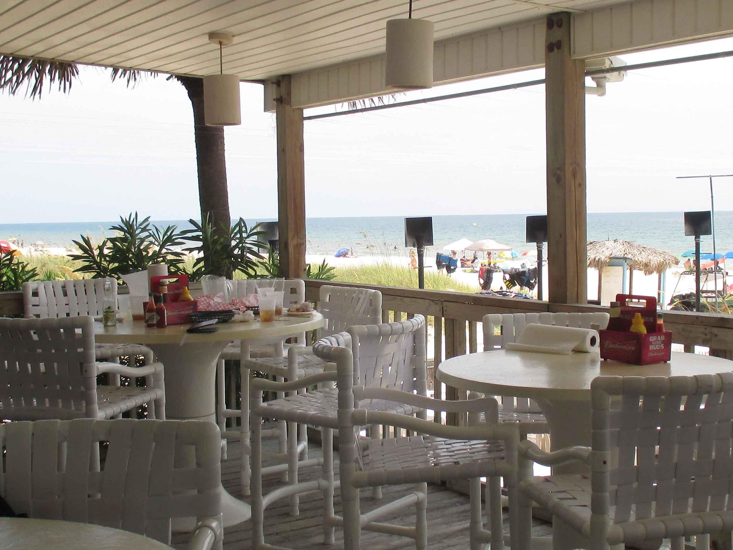 The Blue Parrot Oceanfront Cafe Patio Tables