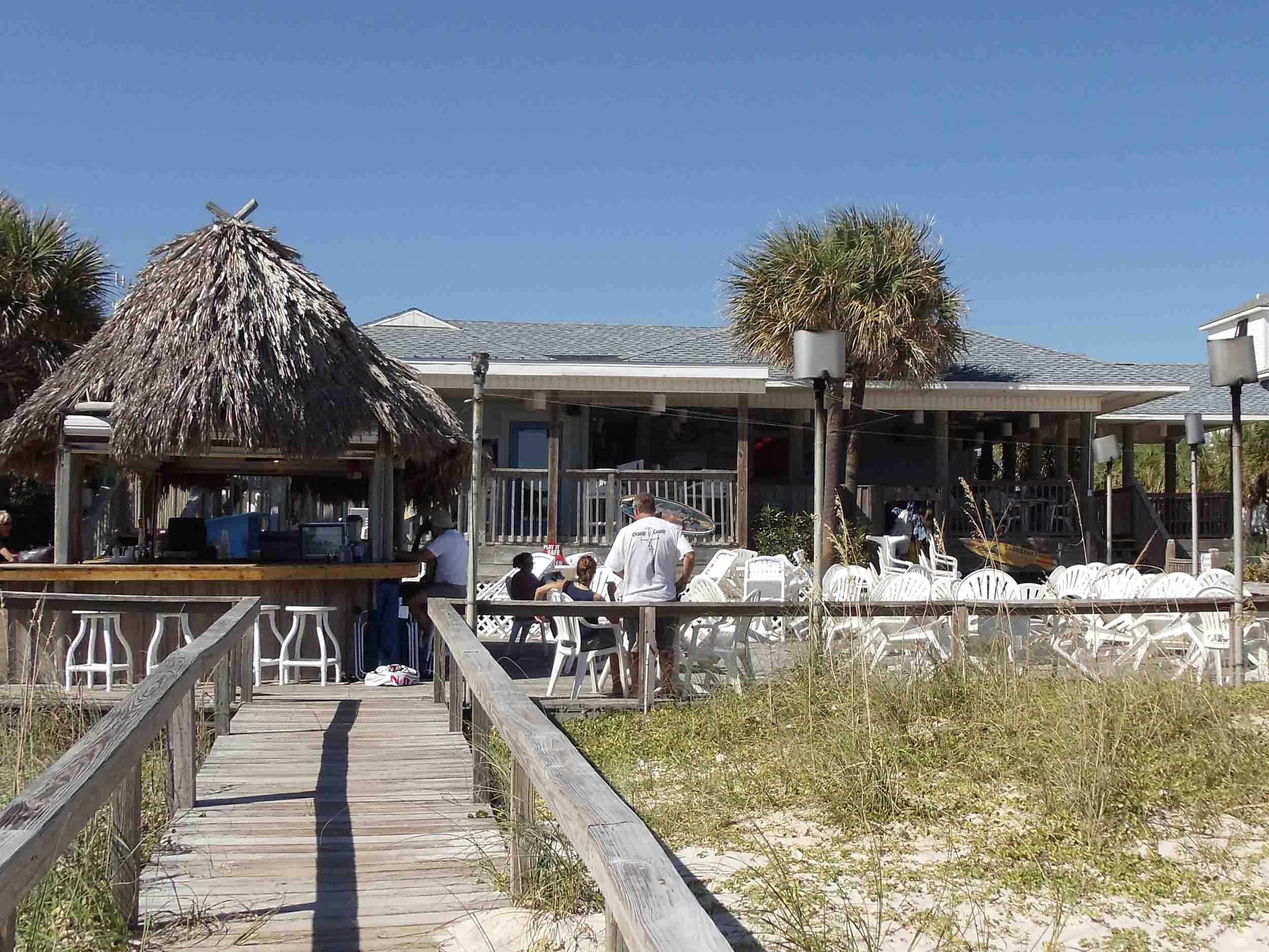 The Blue Parrot Oceanfront Cafe Exterior