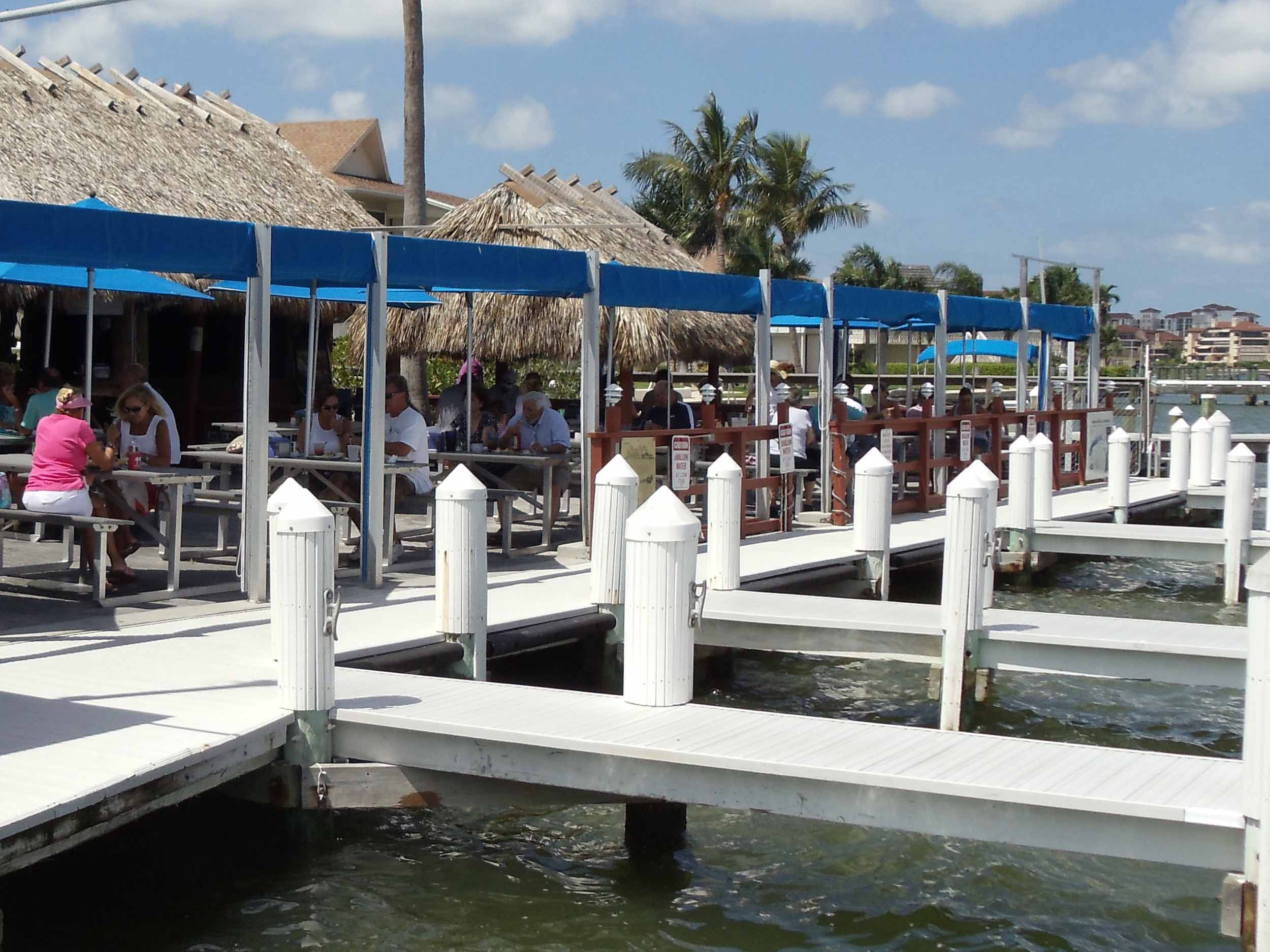 Snook Inn Seating Area and Boat Docks
