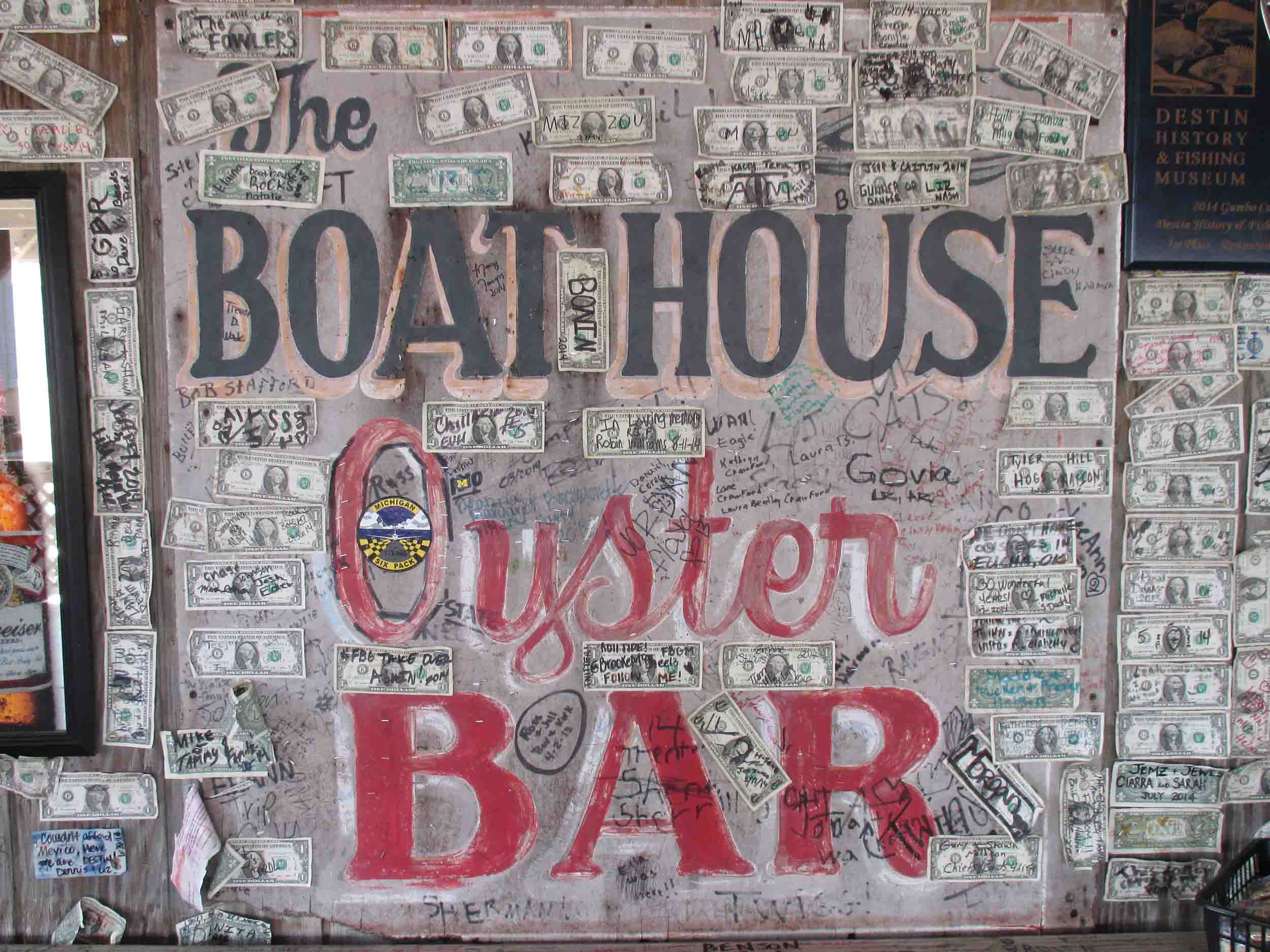 Boathouse Oyster Bar Sign