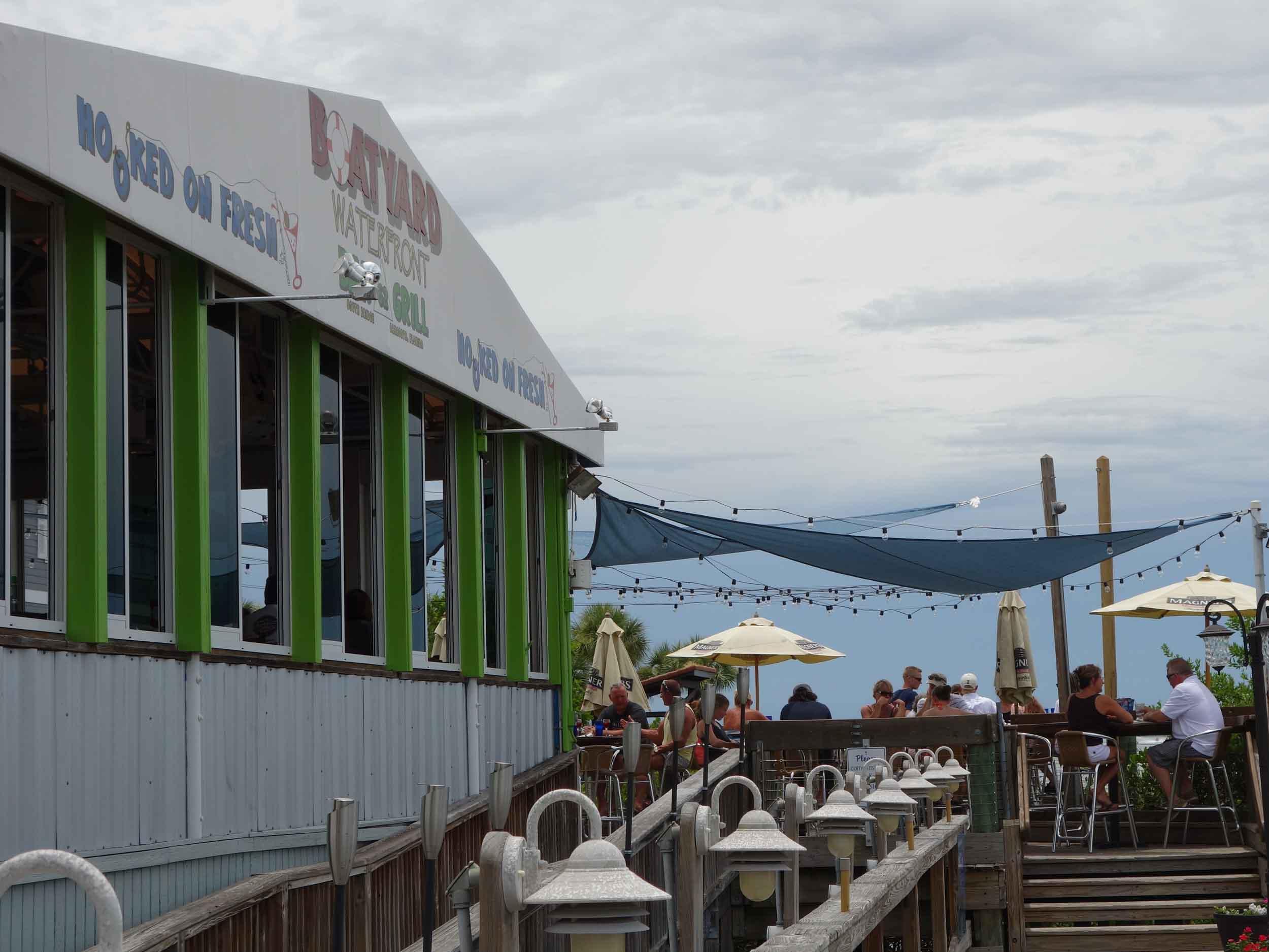 Boatyard Waterfront Bar and Grill Patio