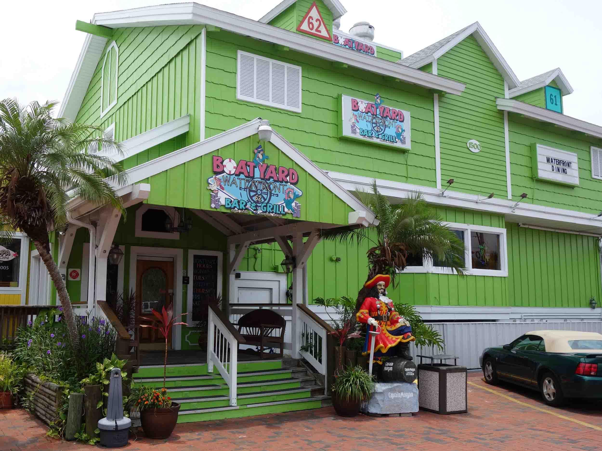 Boatyard Waterfront Bar and Grill Entrance