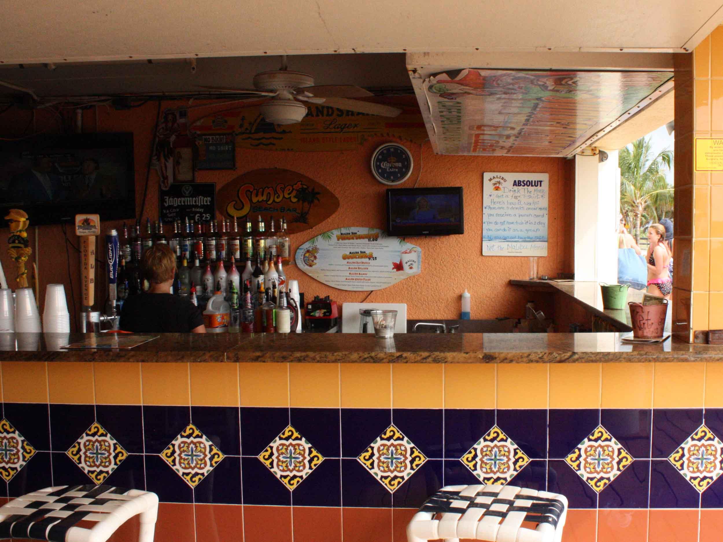 Sunset Beach Bar Serving Area