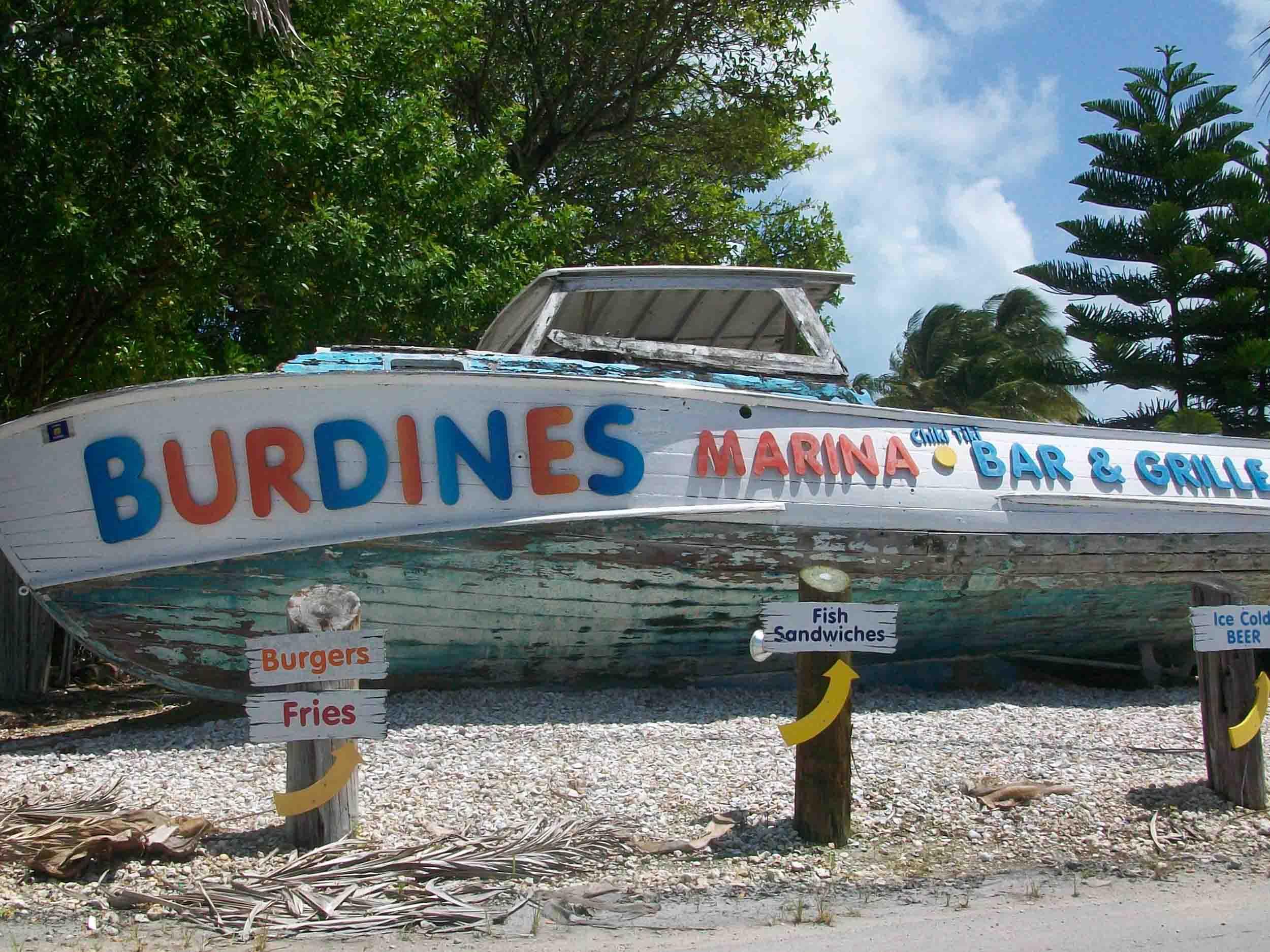 Burdines Waterfront ChikiTiki Sign