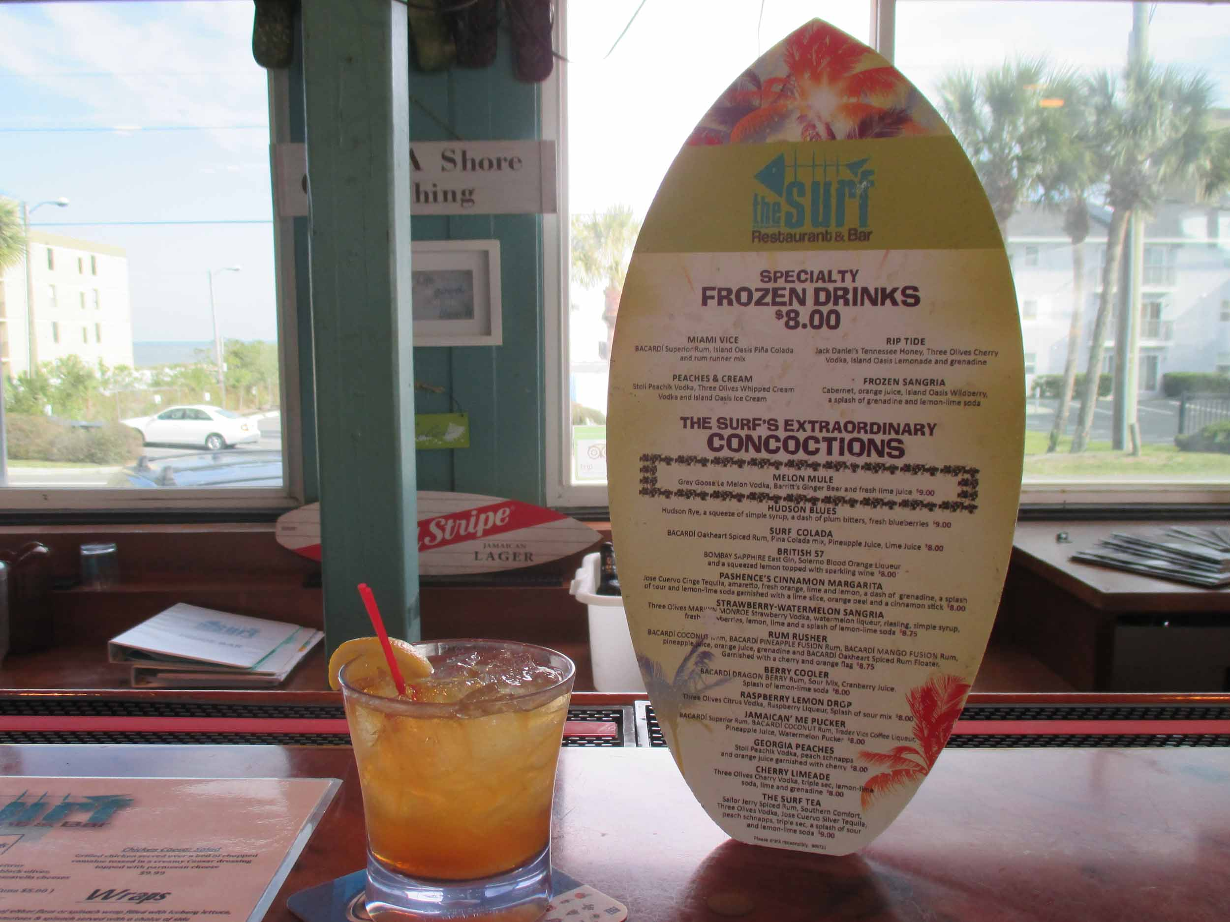 The Surf Restaurant and Bar Drinks