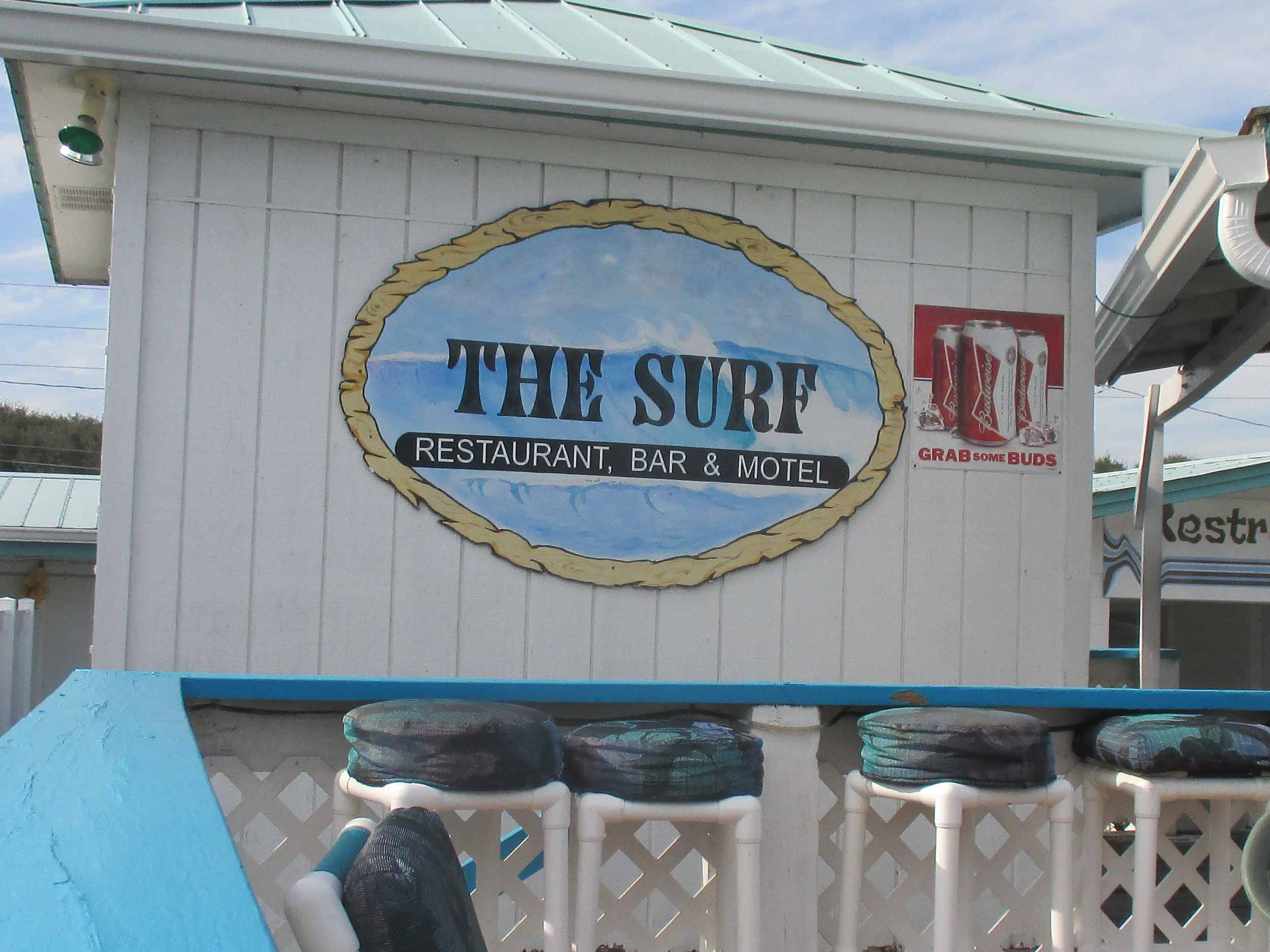 The Surf Restaurant and Bar Sign