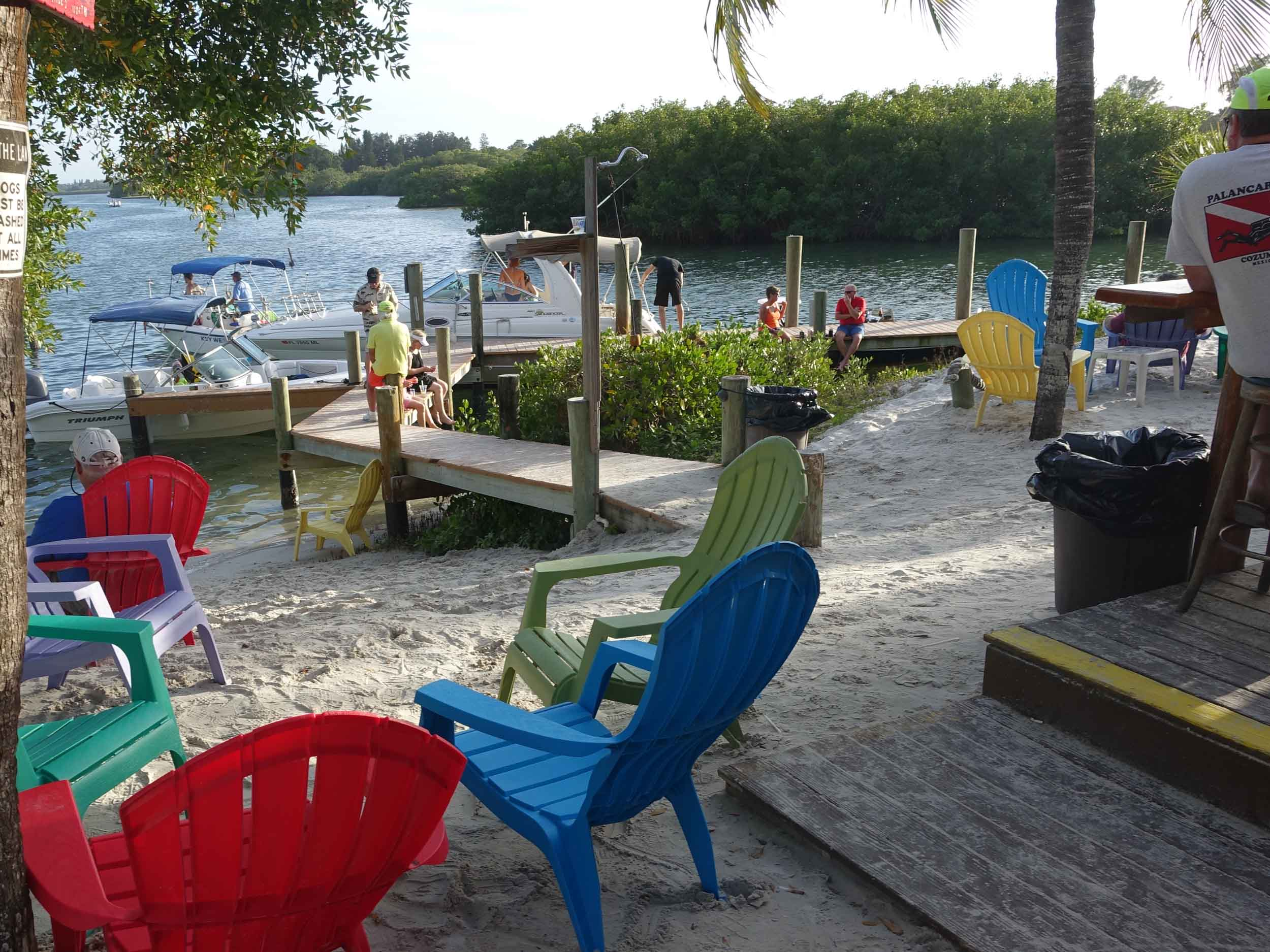 Casey Key Fish House Beach Seating