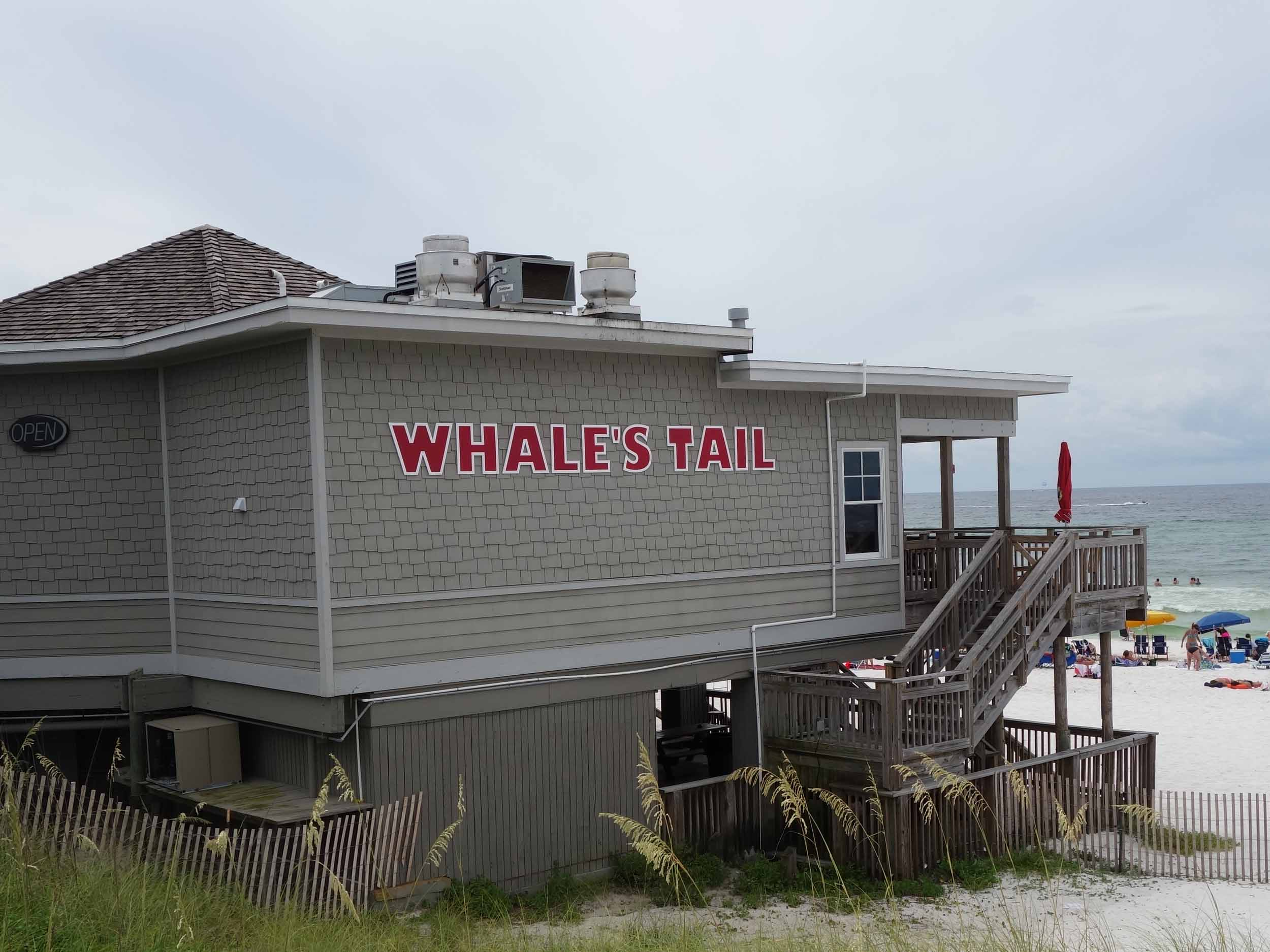 Whale's Tail Beach Bar Exterior