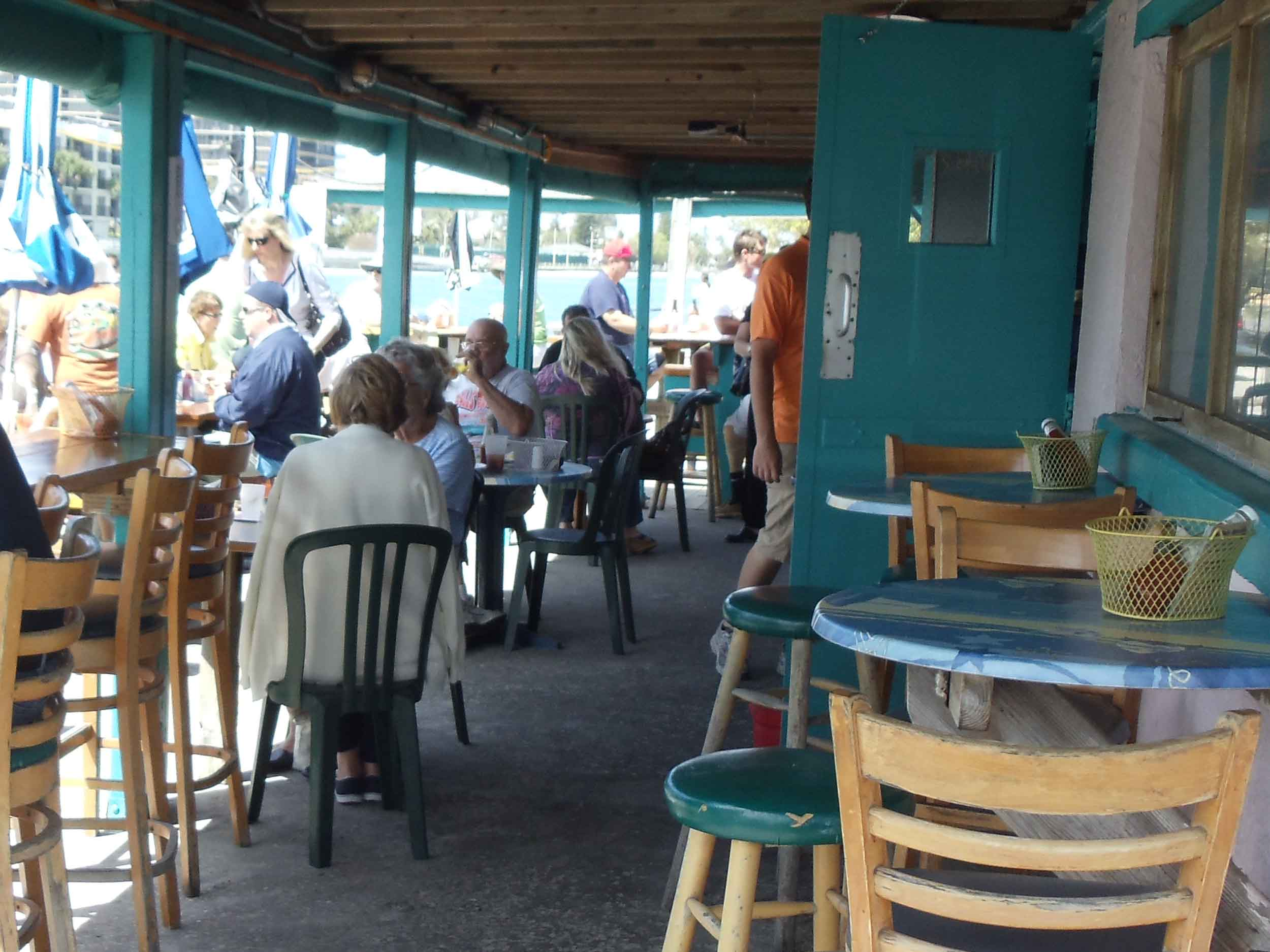 Woody's Waterfront Outdoor Restaurant Dining Area
