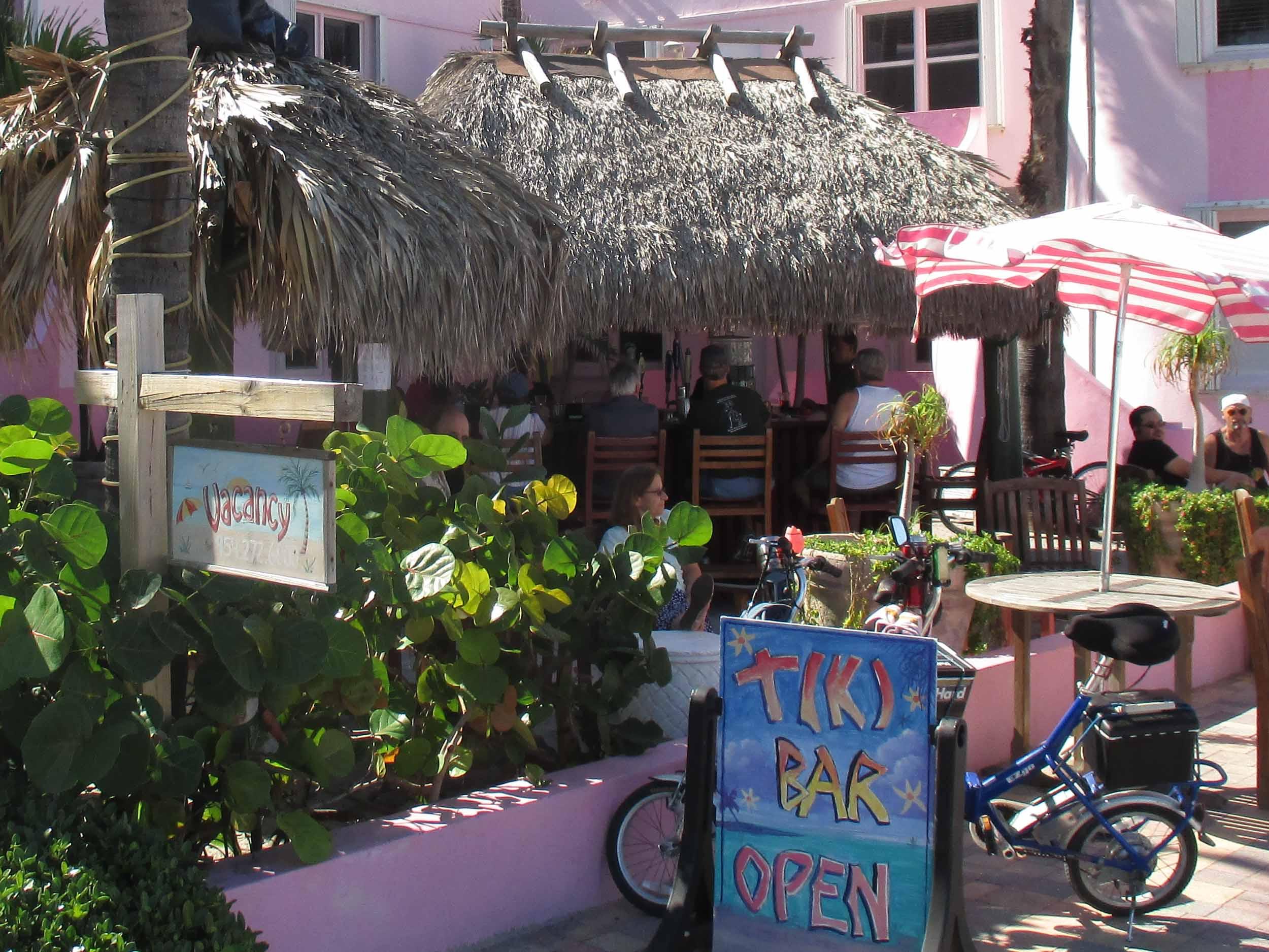Tiki Bar at the Walkabout Beach Resort Entrance
