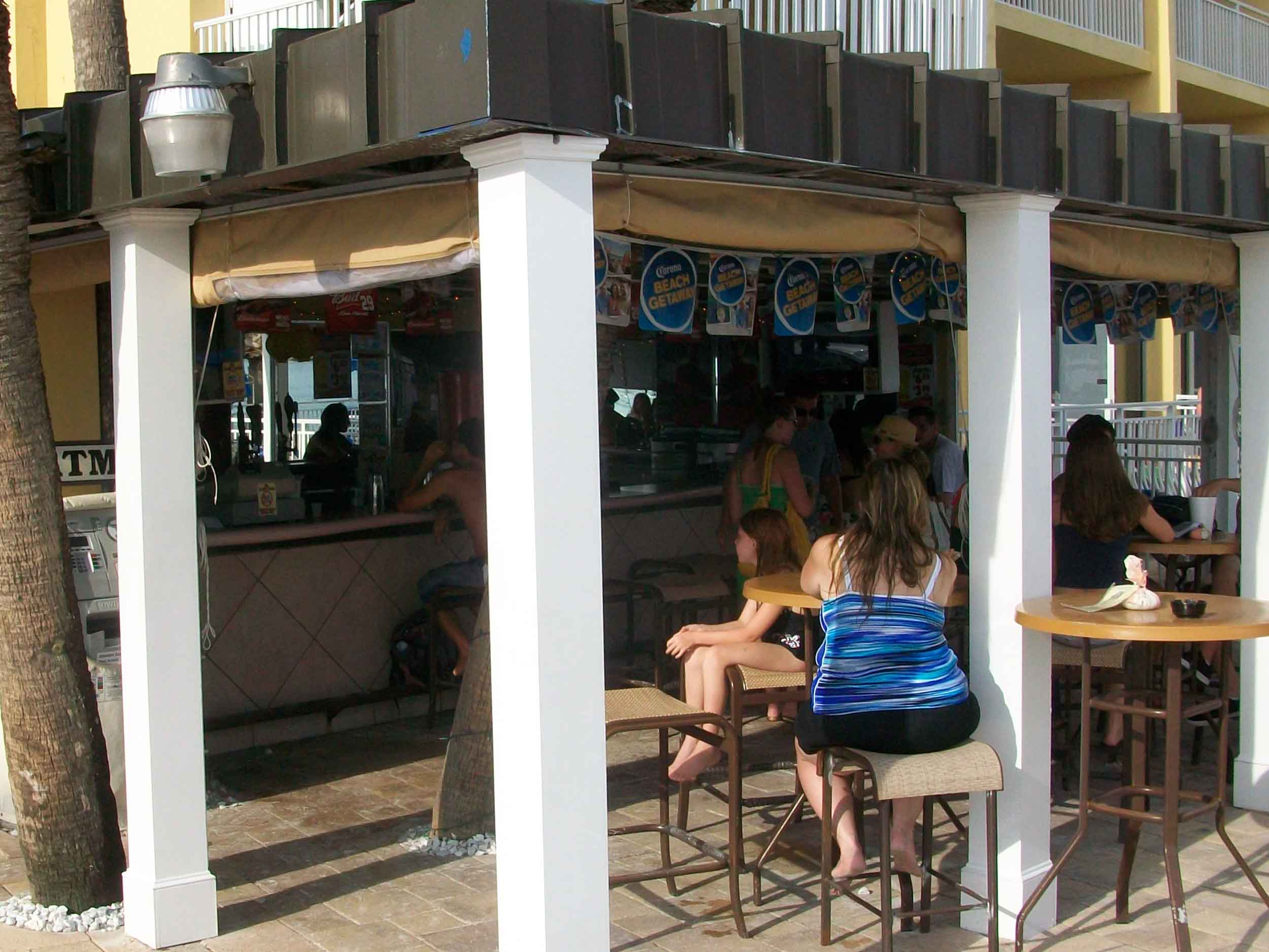 Tropix Island Tiki Bar Seating and Bar Area