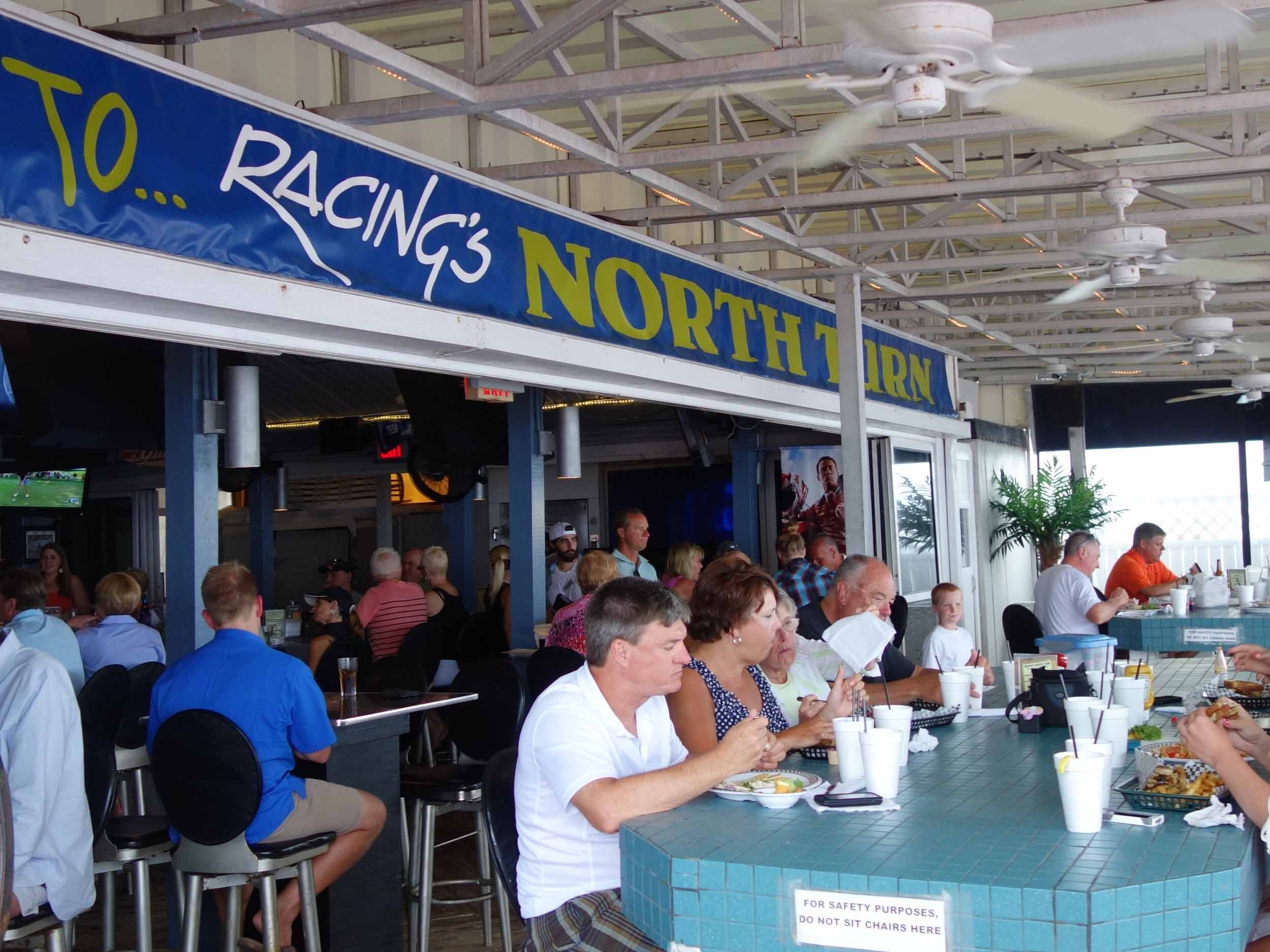 Racing's North Turn Dining Area