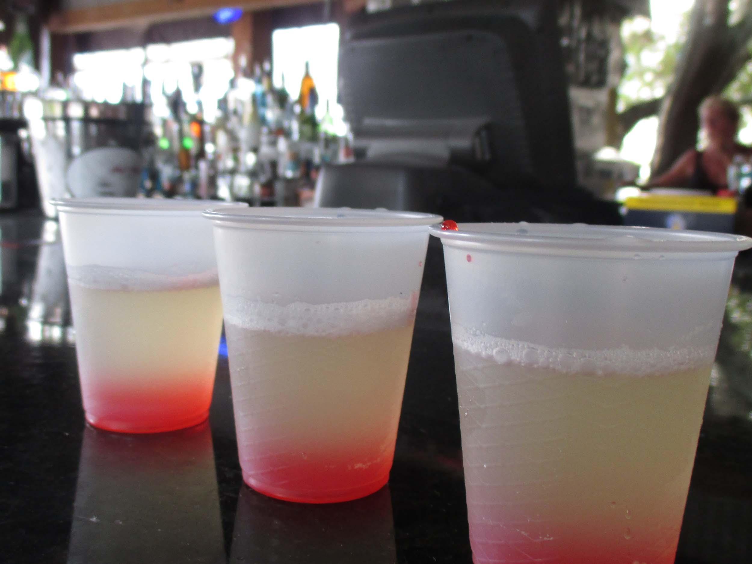 The Red Door Saloon Drinks