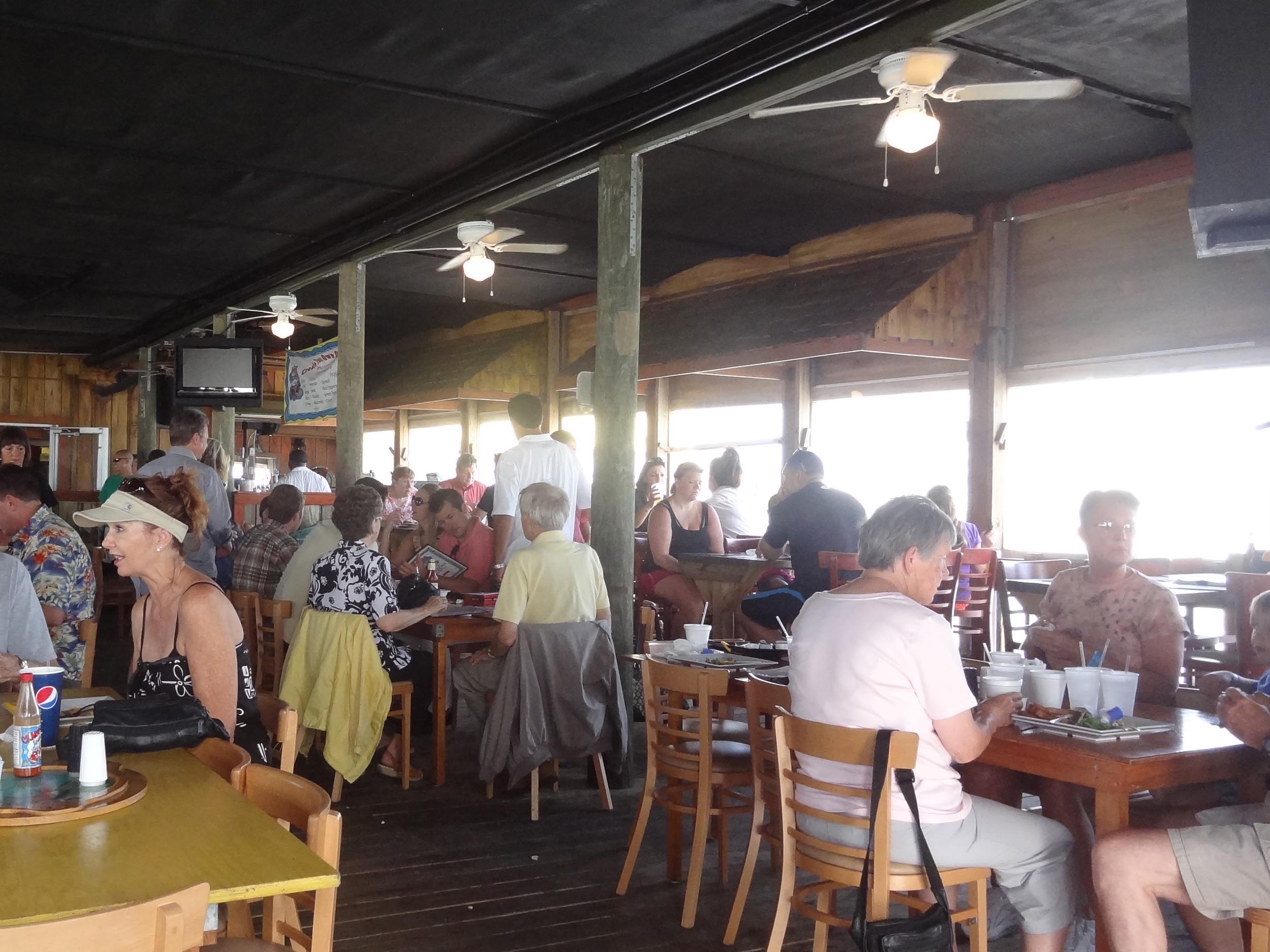 Crabby Joe's Deck and Grill Seating Area