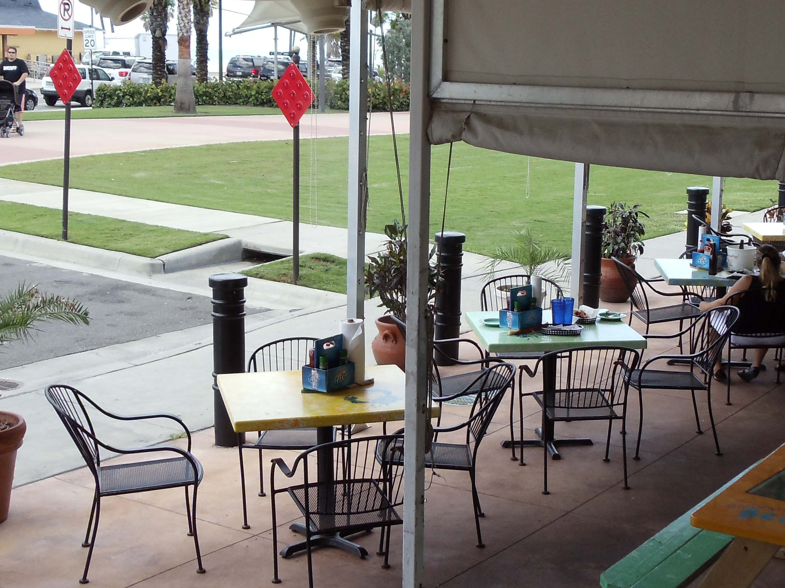 Crabby's Bar and Grill Patio Tables
