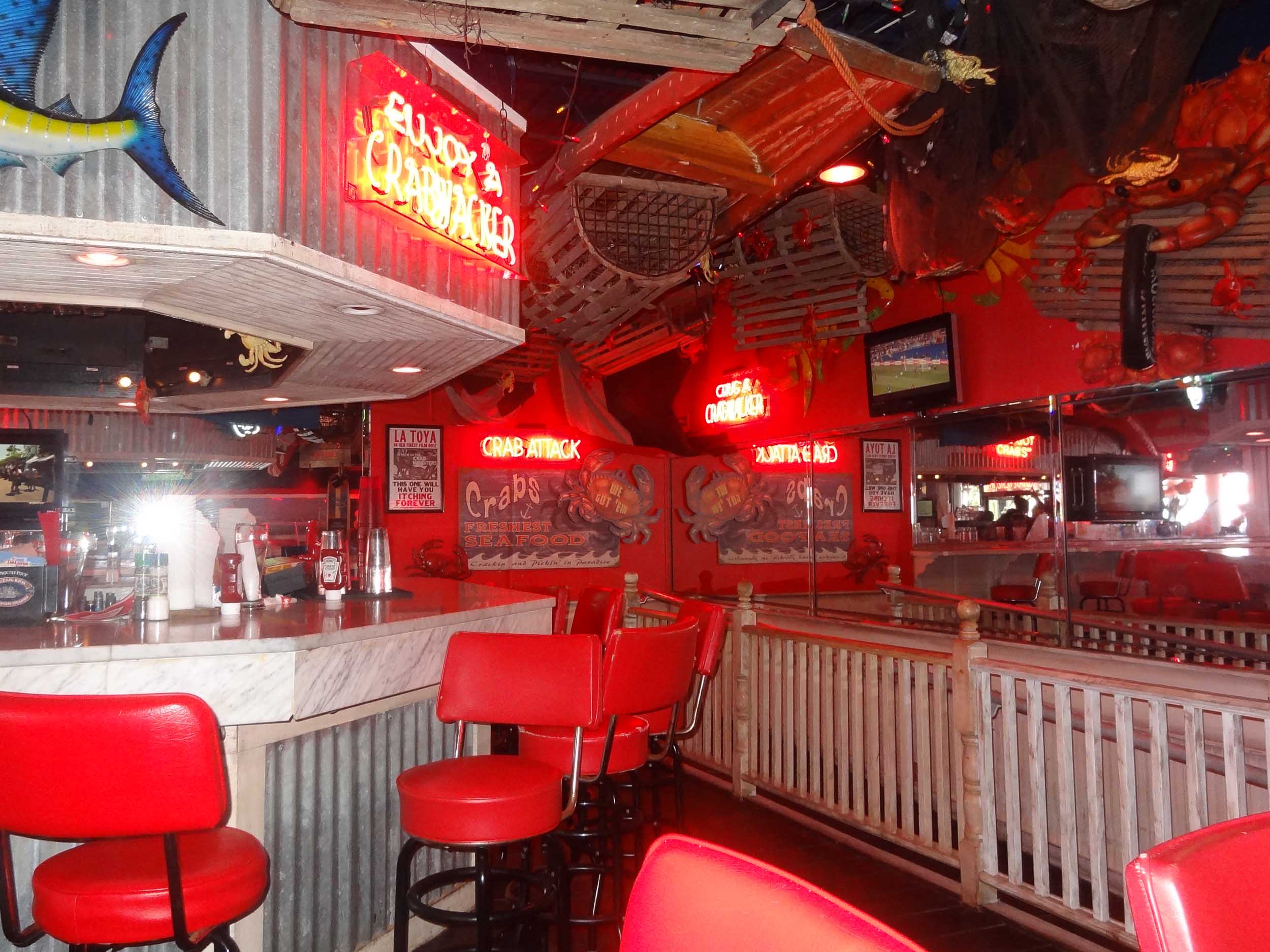 Crabs We Got 'Em Inside Bar
