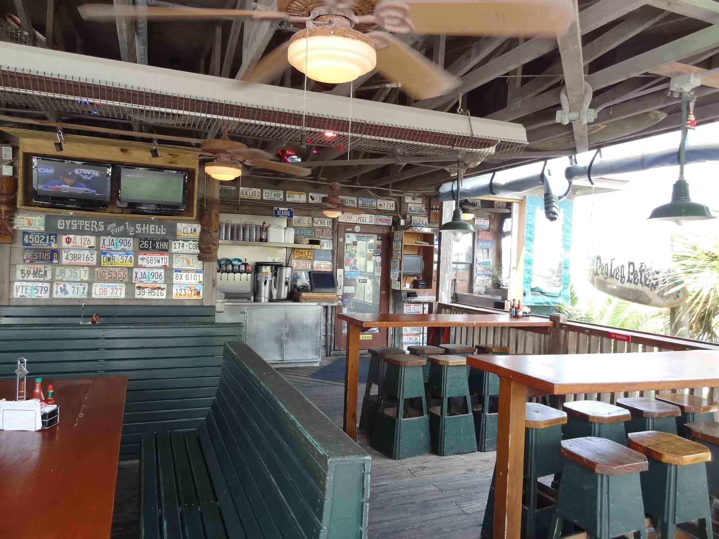 Peg Leg Pete's Oyster Bar Interior Dining Area