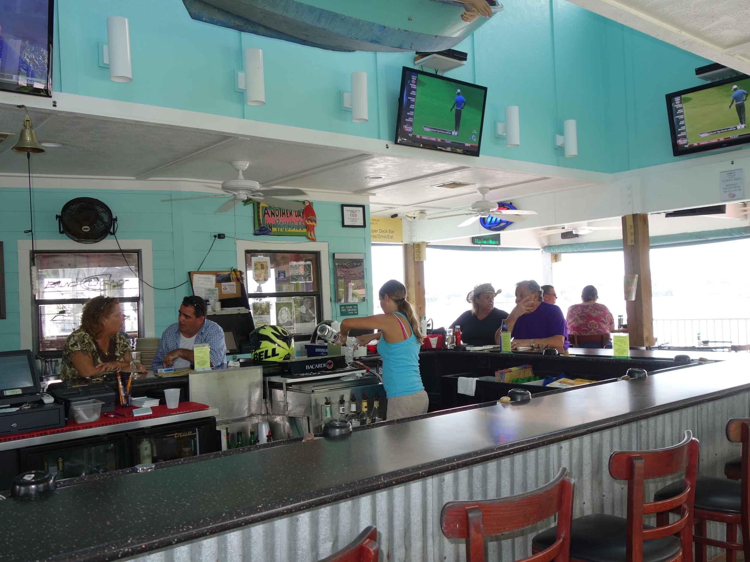Petey's Upper Deck Bar Area