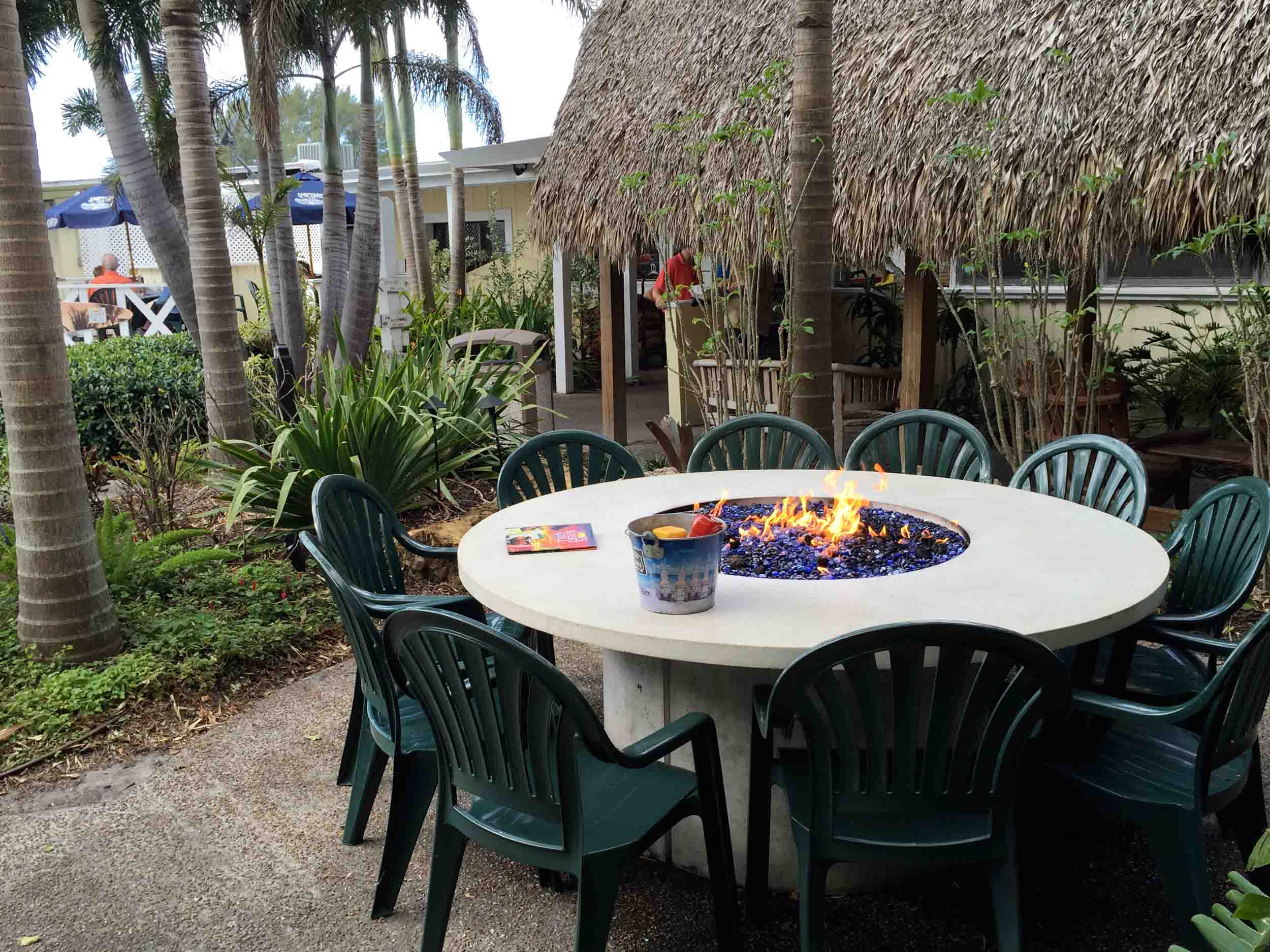 Pop's Sunset Grill Fire Tables