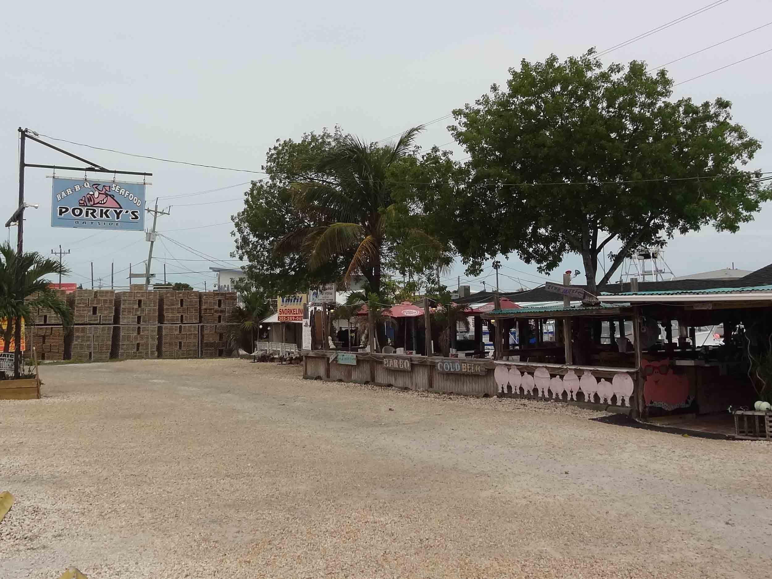 Porky's Bayside Restaurant and Marina Exterior