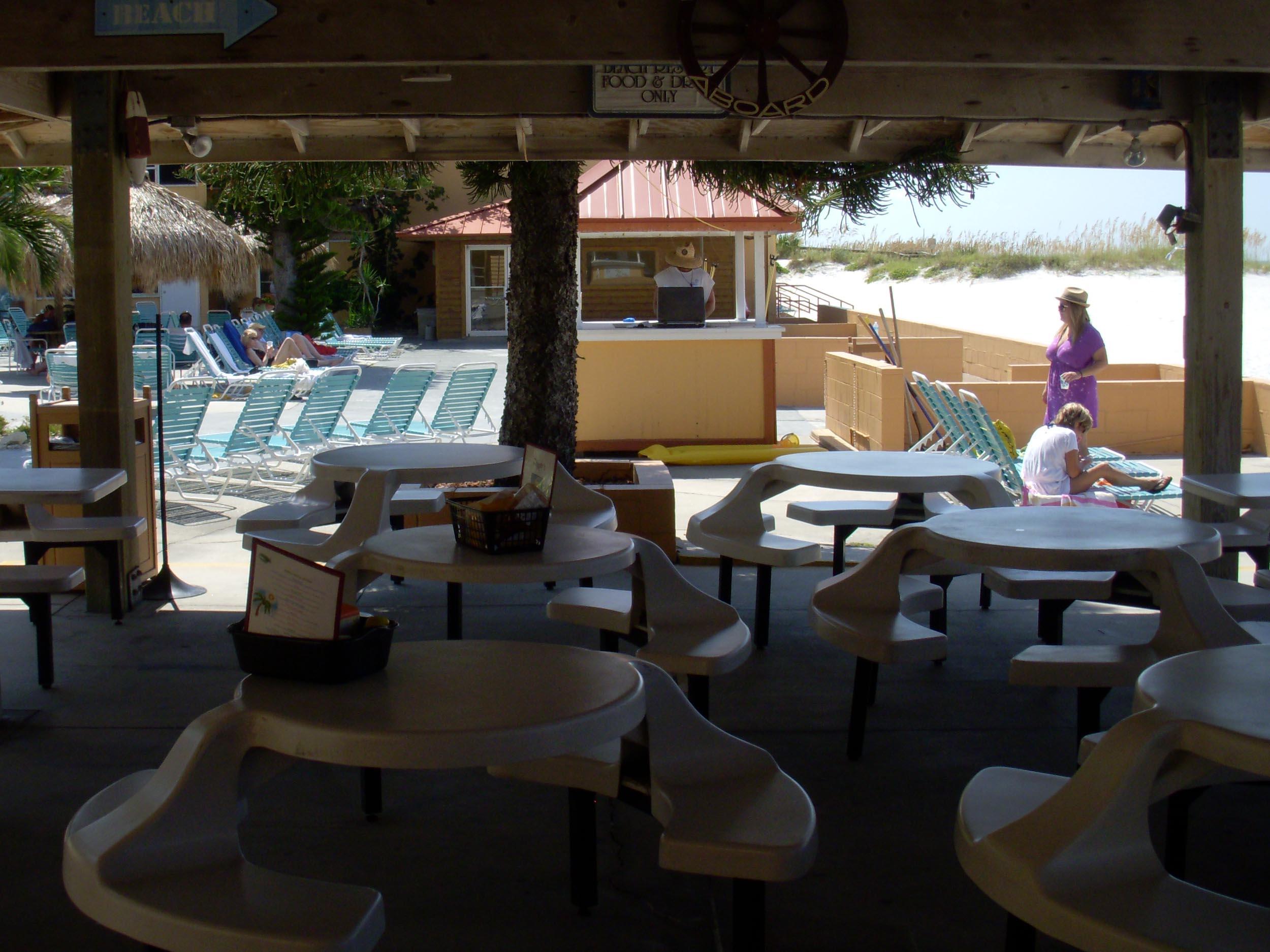 Flipper's Beach Bar Seating Area