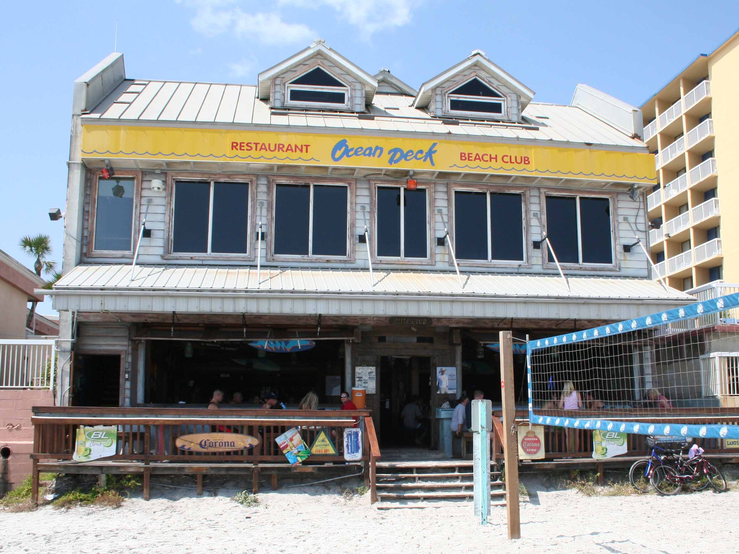 Ocean Deck Restaurant and Beach Club Exterior