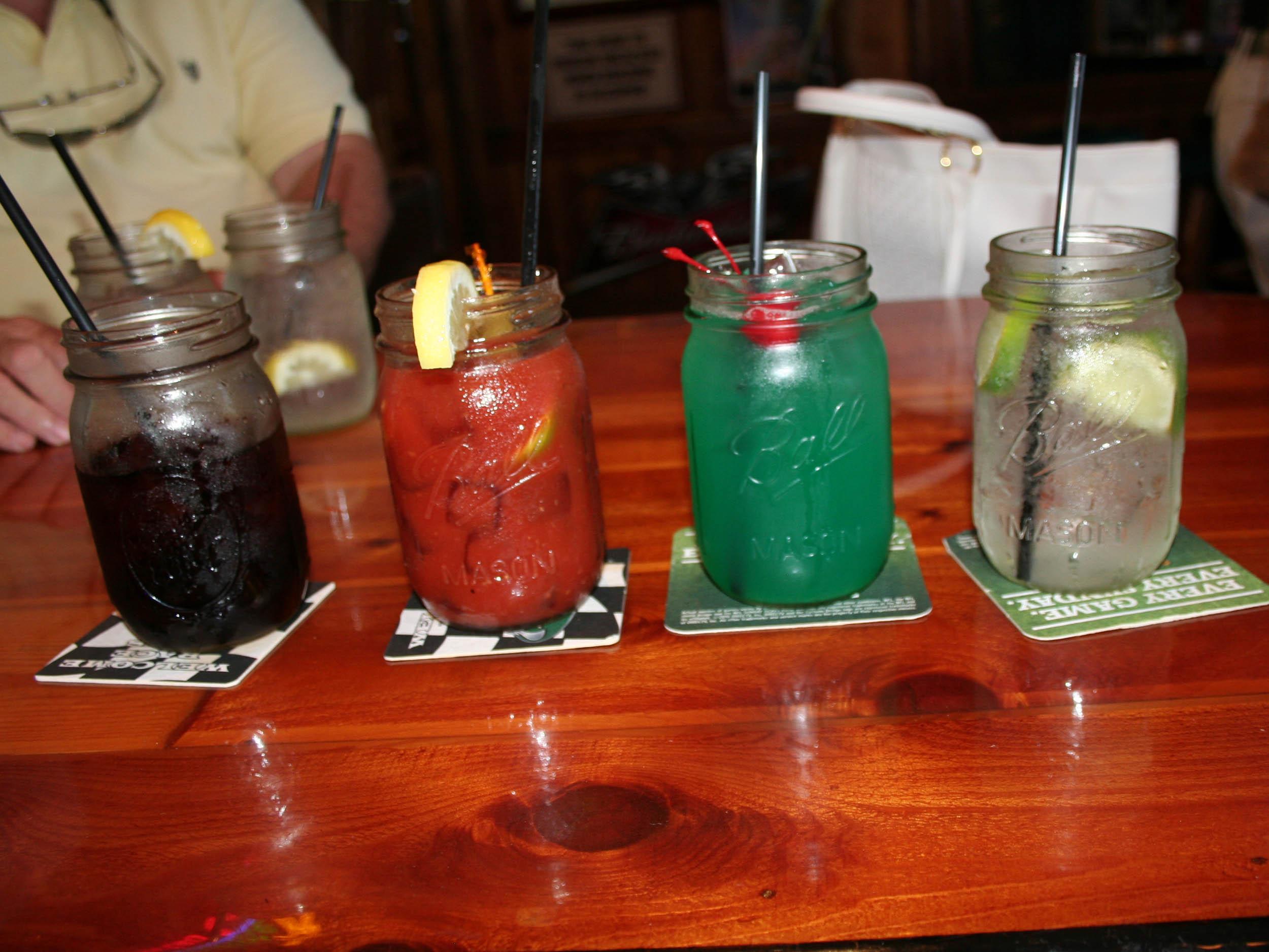Ocean Deck Restaurant and Beach Club Mason Jar Drinks