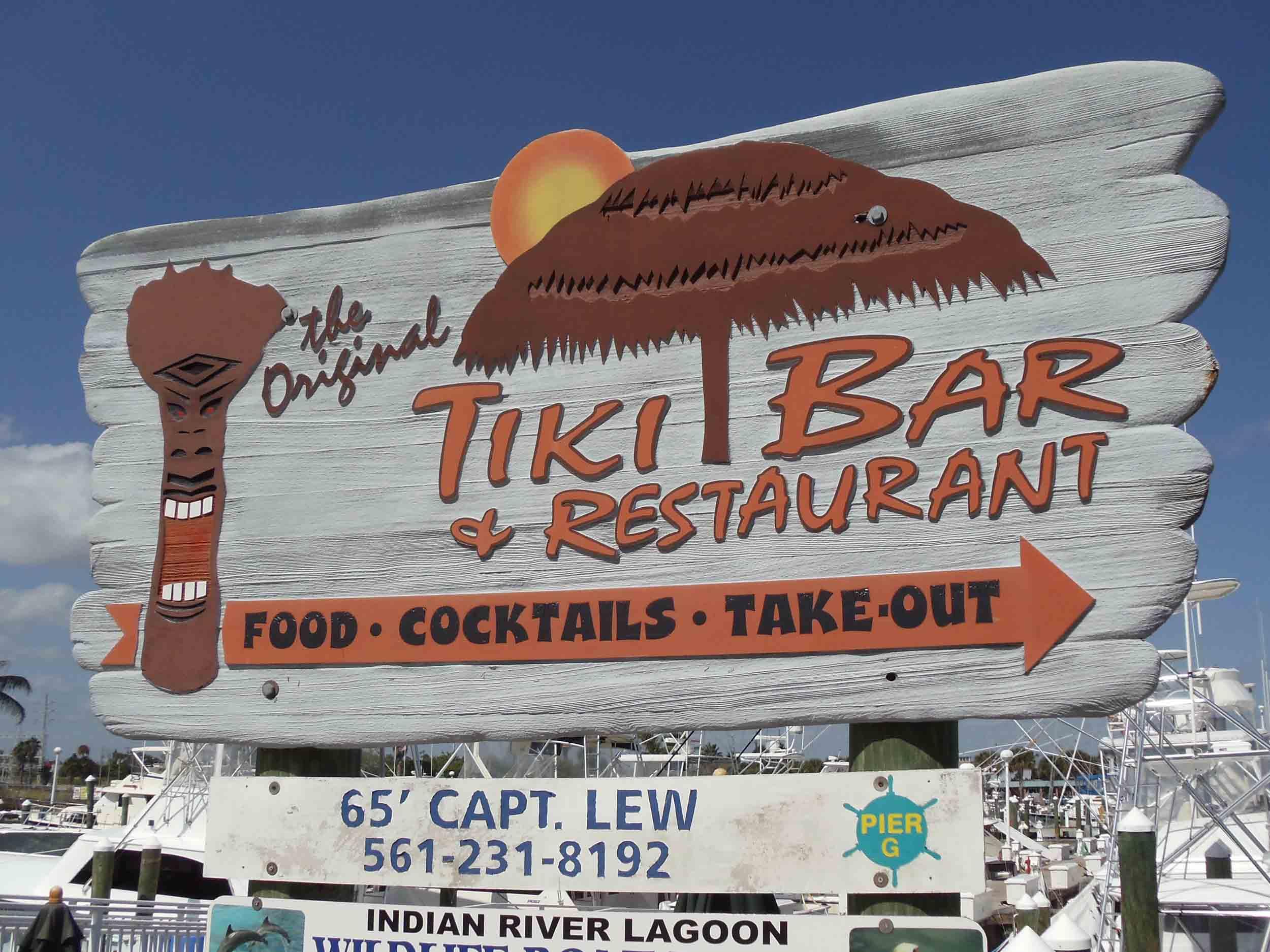 Original Tiki Bar Sign