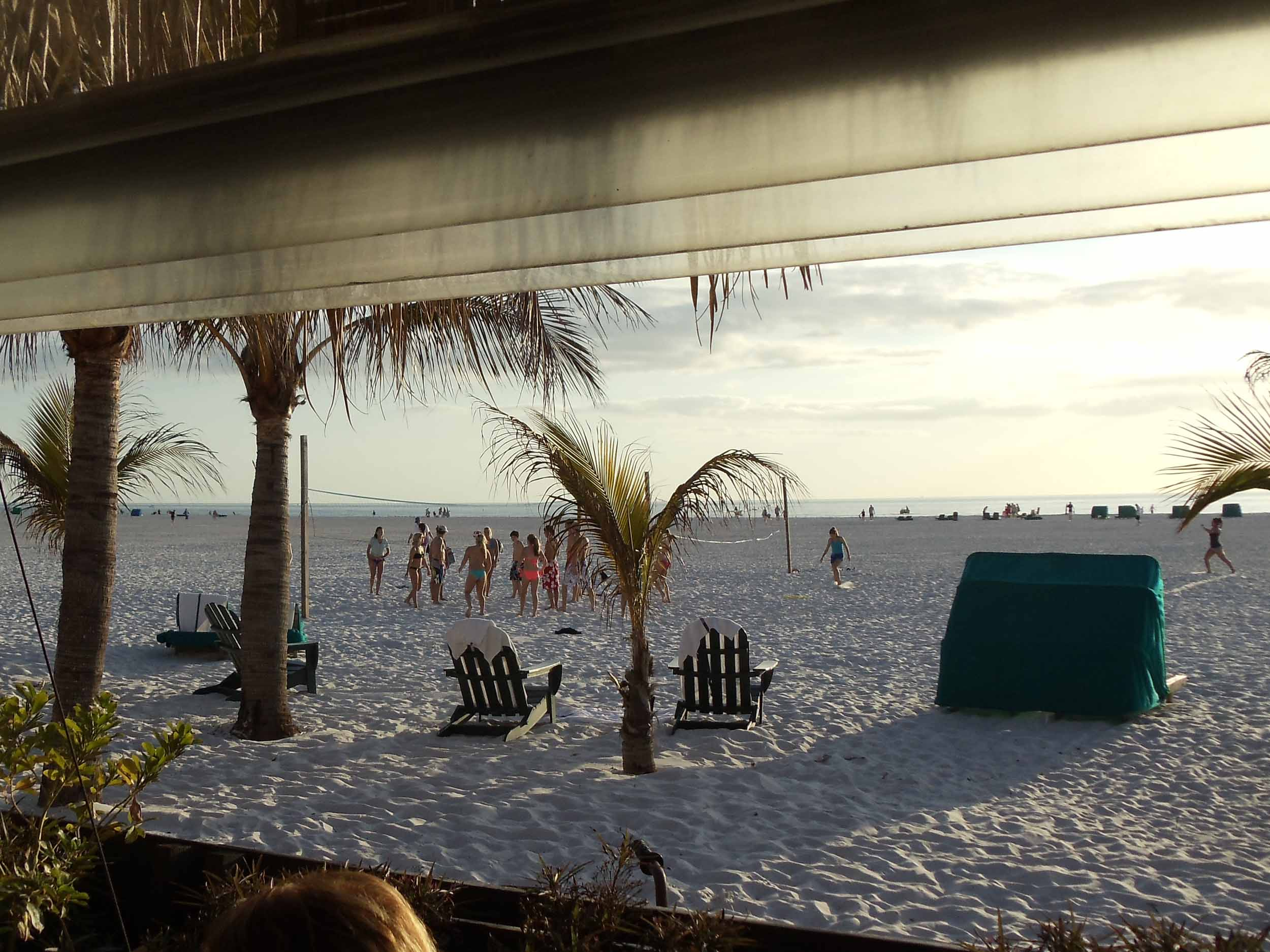 Outrigger Tiki Bar Beach View