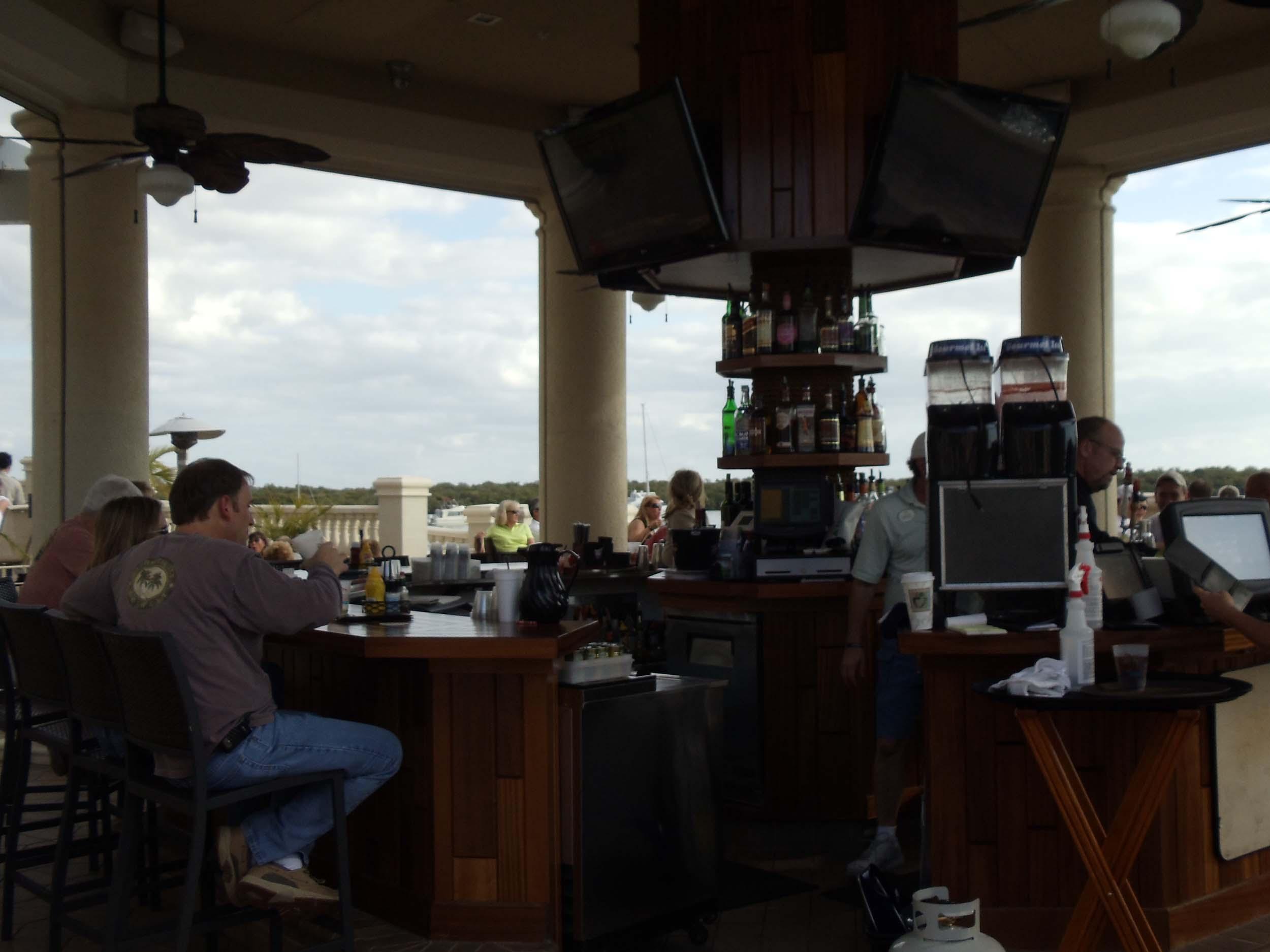 Nauti Mermaid Dockside Bar Area