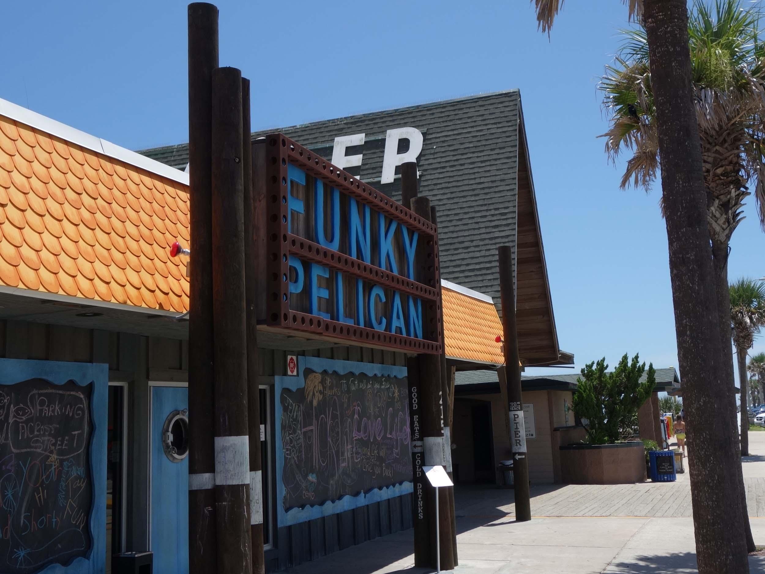 Funky Pelican Entrance