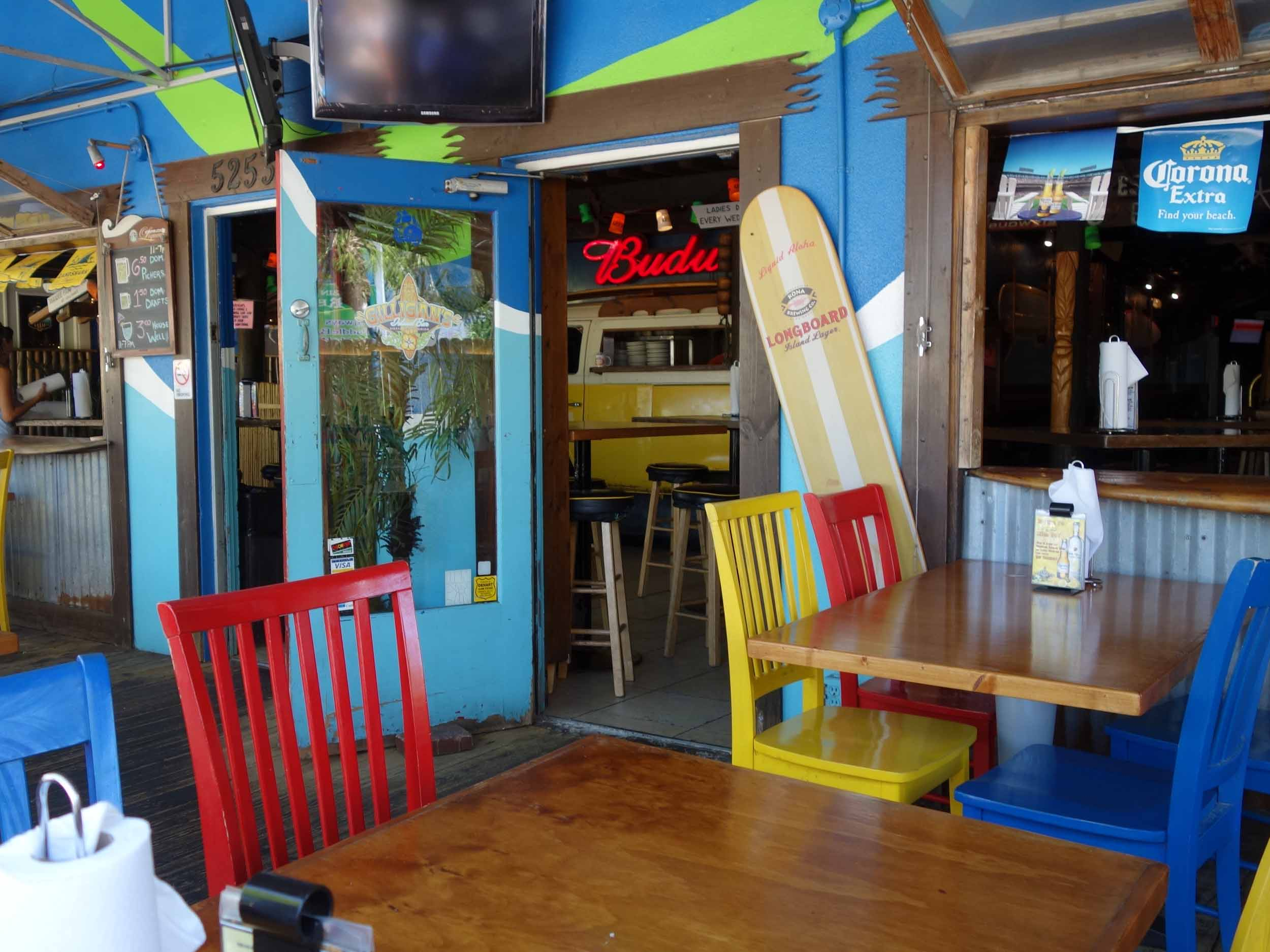 Gilligan's Island Bar and Grill Seating Area