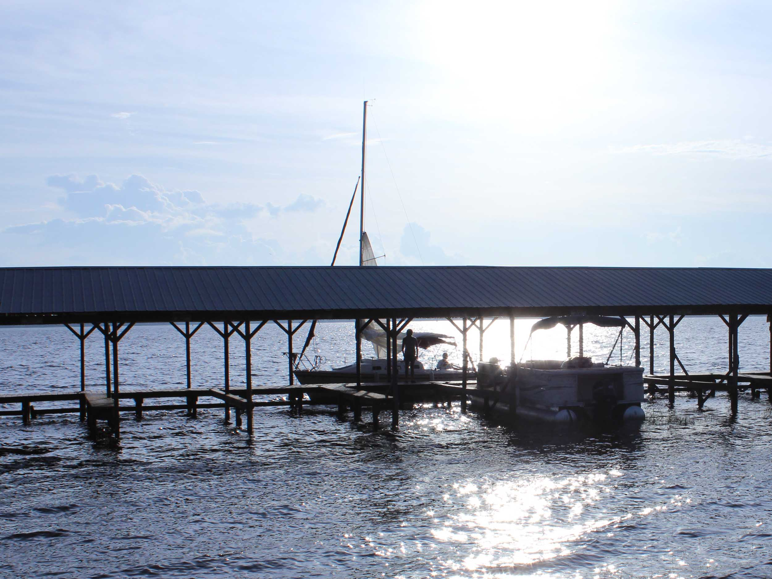 Minneola Tiki Bar Water View