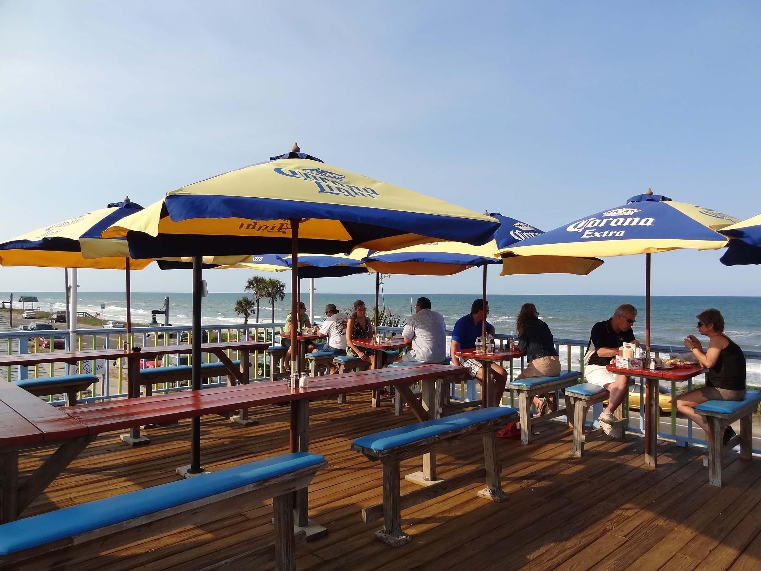 Golden Lion Cafe Upper Deck Beach View