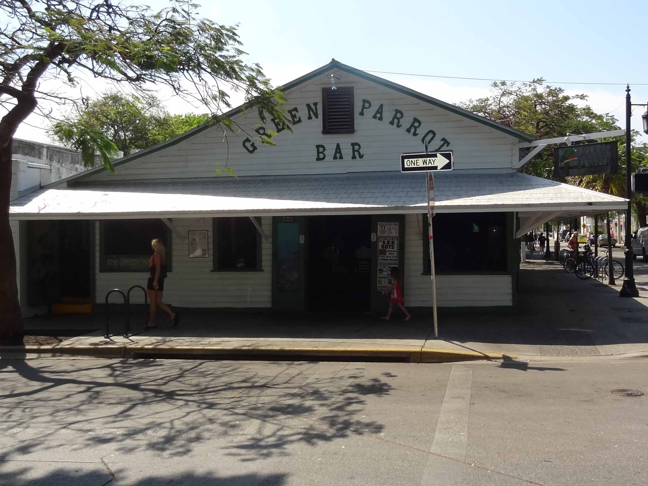 Green Parrot Bar Entrance