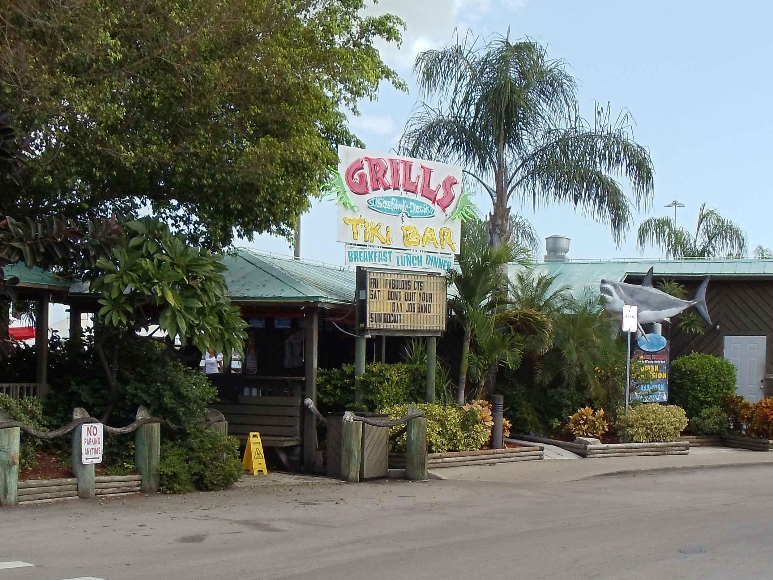 Grills Seafood Deck and Tiki Bar Entrance