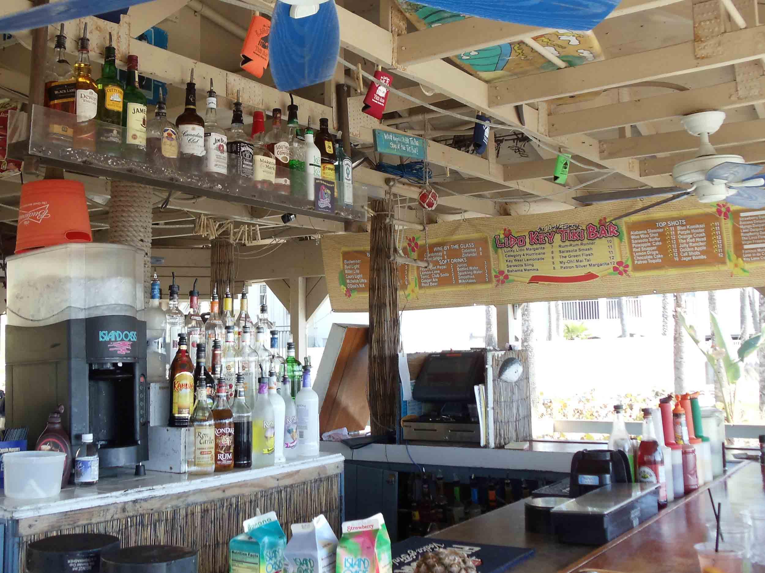Lido Key Tiki Bar Area