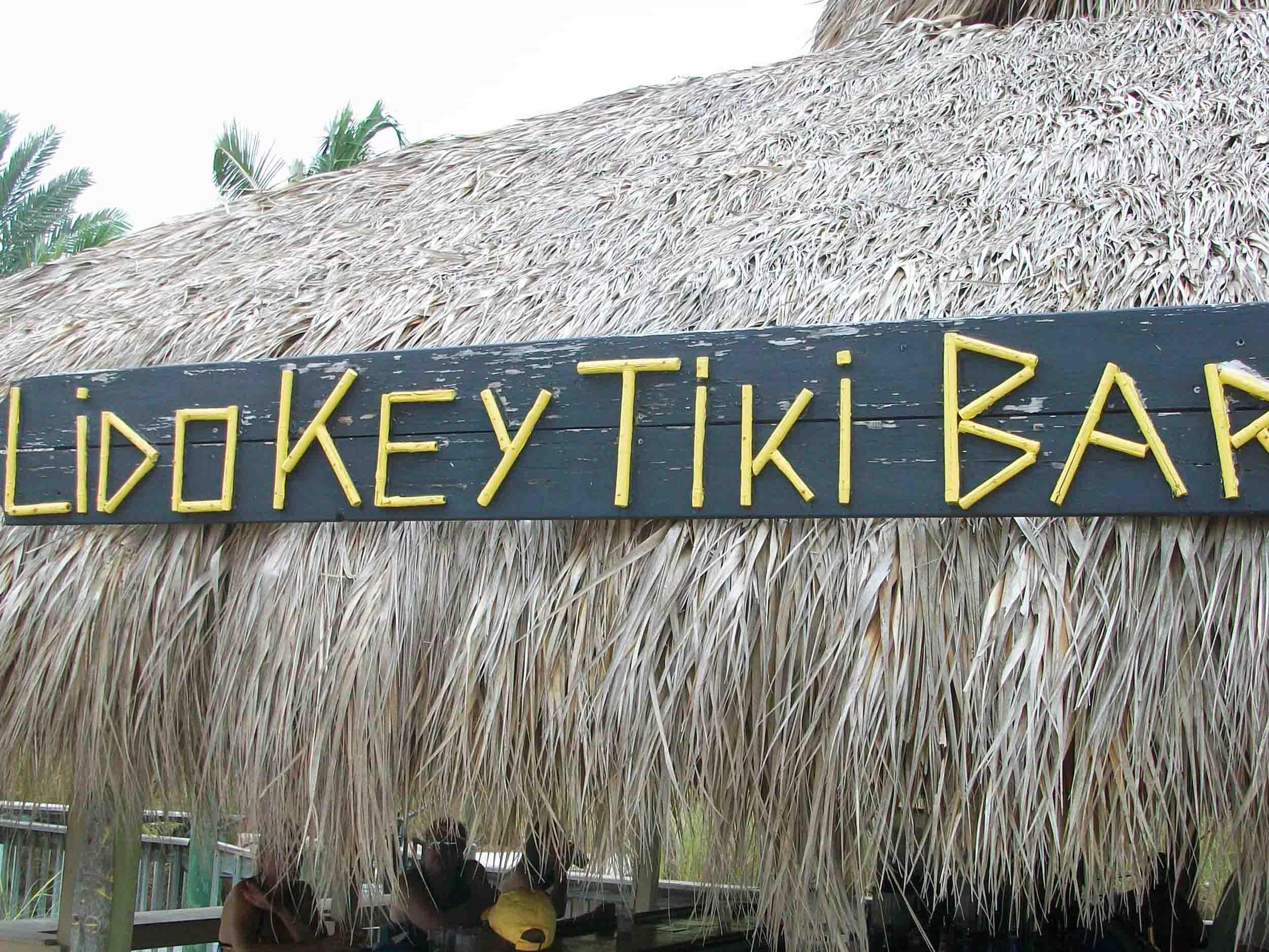 Lido Key Tiki Bar Sign