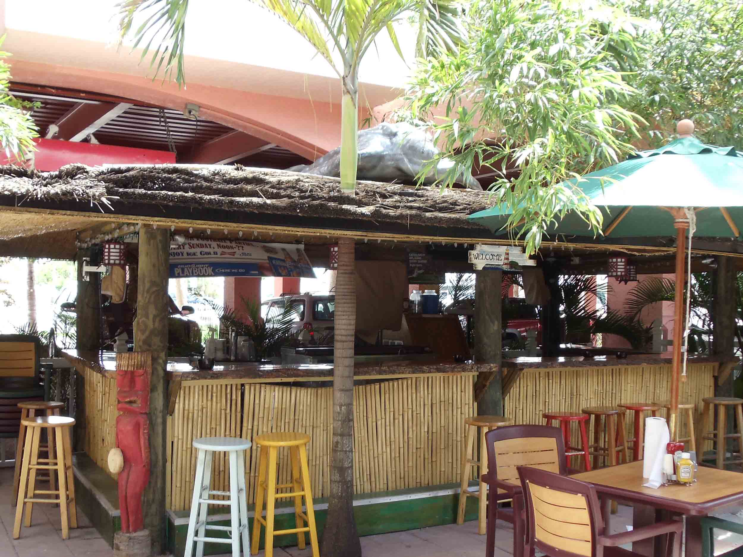 Lighthouse Resort Tiki Bar and Grill Bar Area