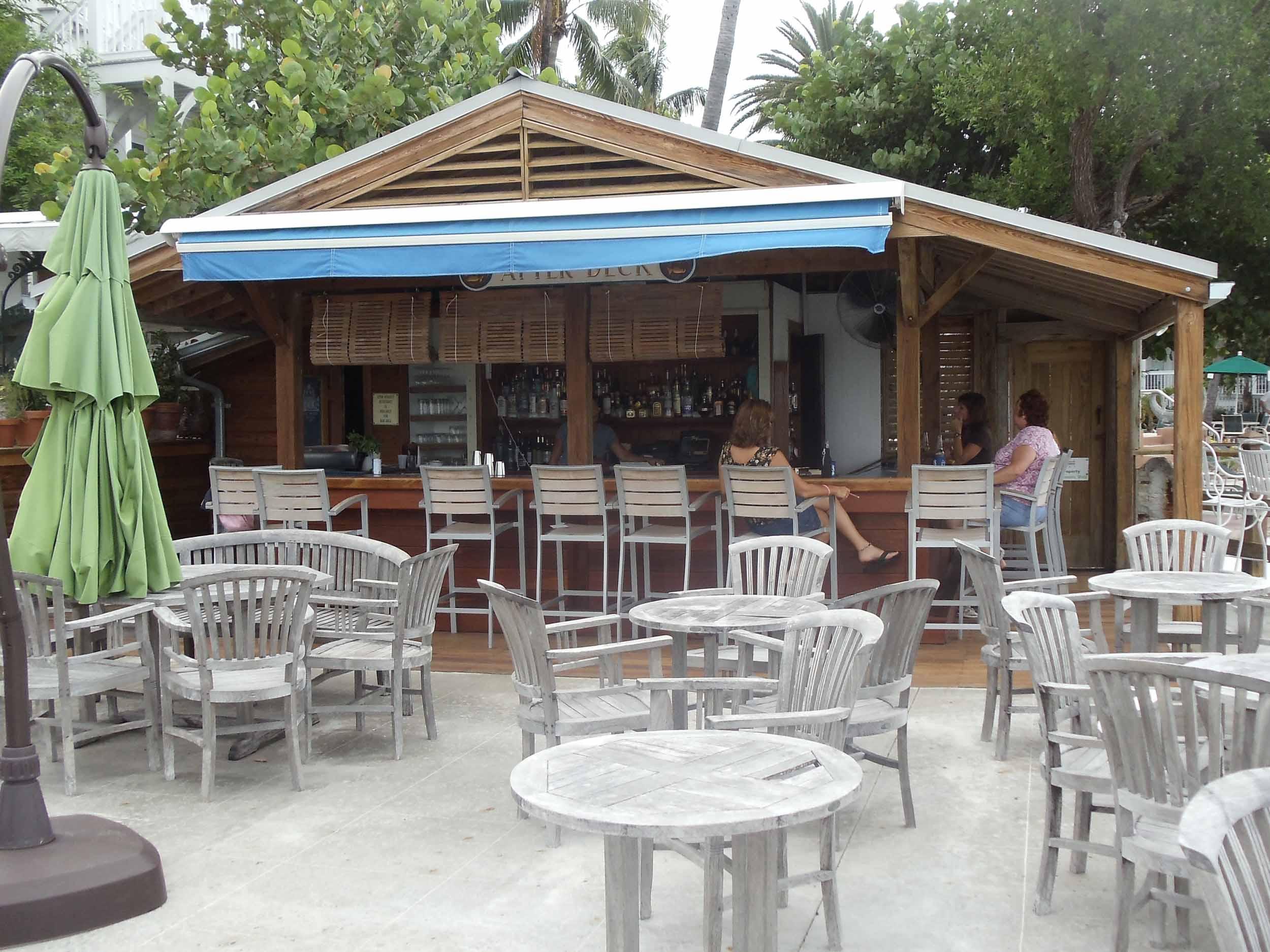 Louie's Backyard Bar Area