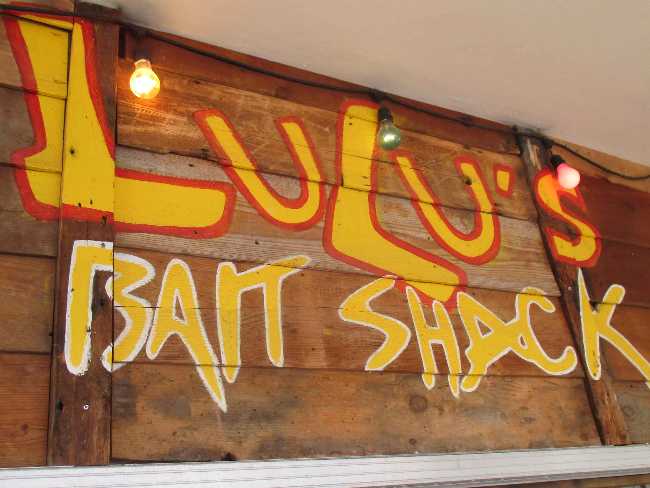 Lulu's Bait Shack Sign