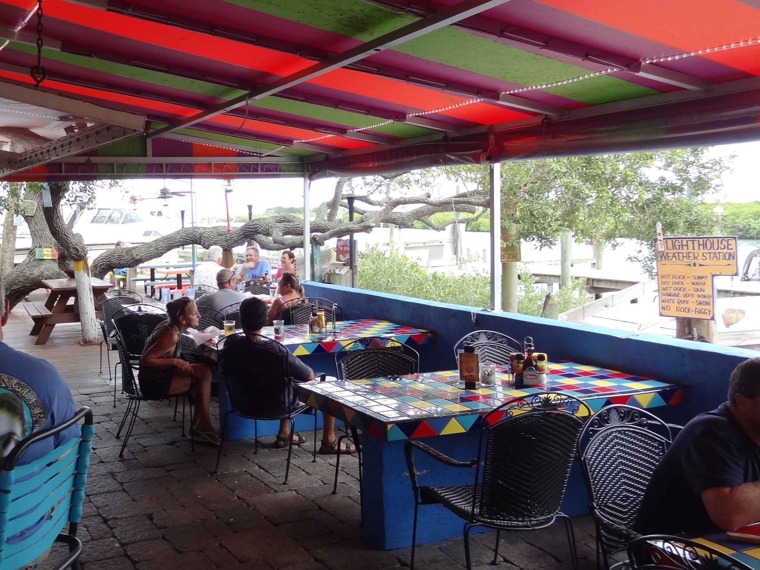 Hidden Treasure Rum Bar and Grill Seating Area
