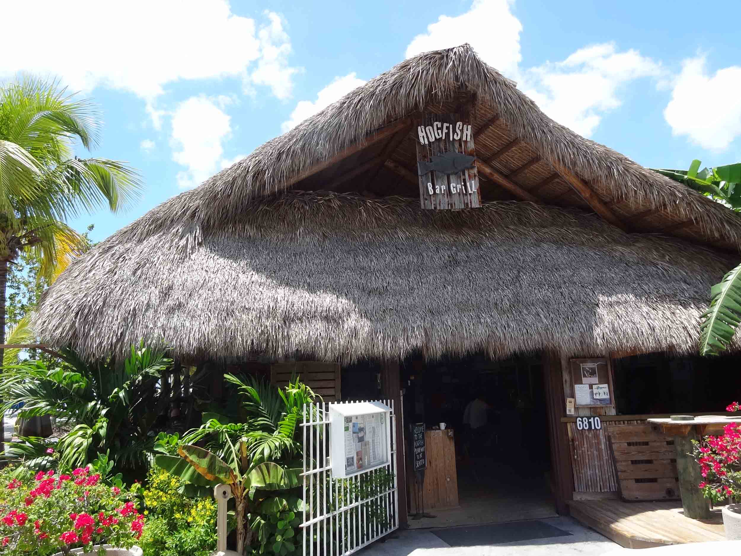 Hogfish Bar and Grill Tiki Hut