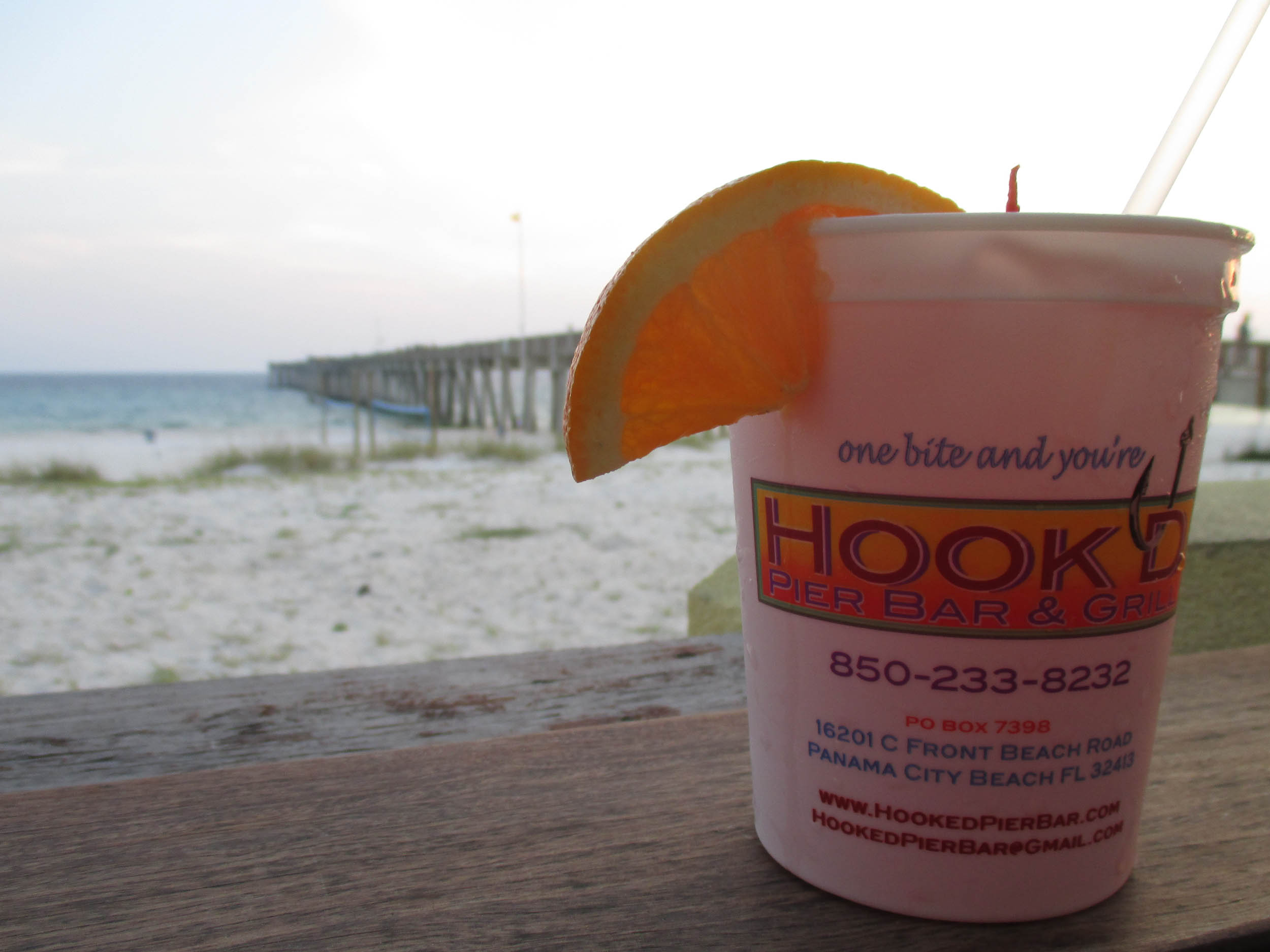 Hook'd Pier Bar and Grill Sunset Drink