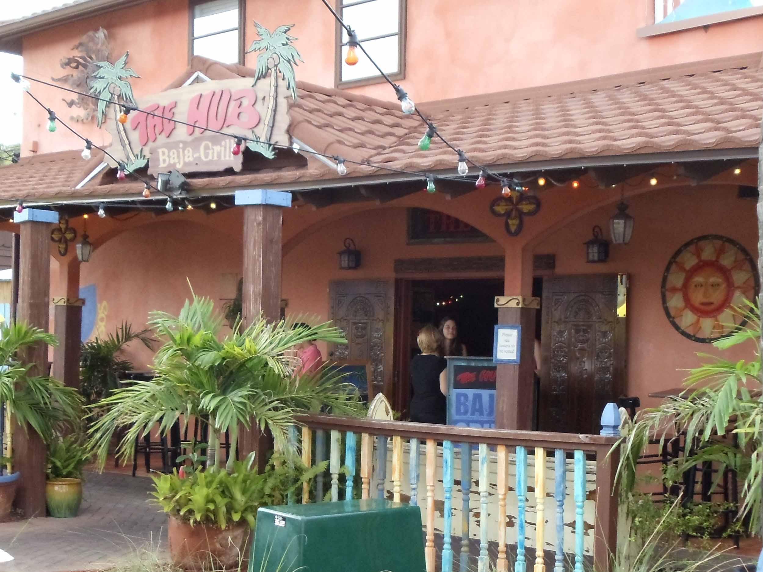 The Hub Baja Grill Entrance