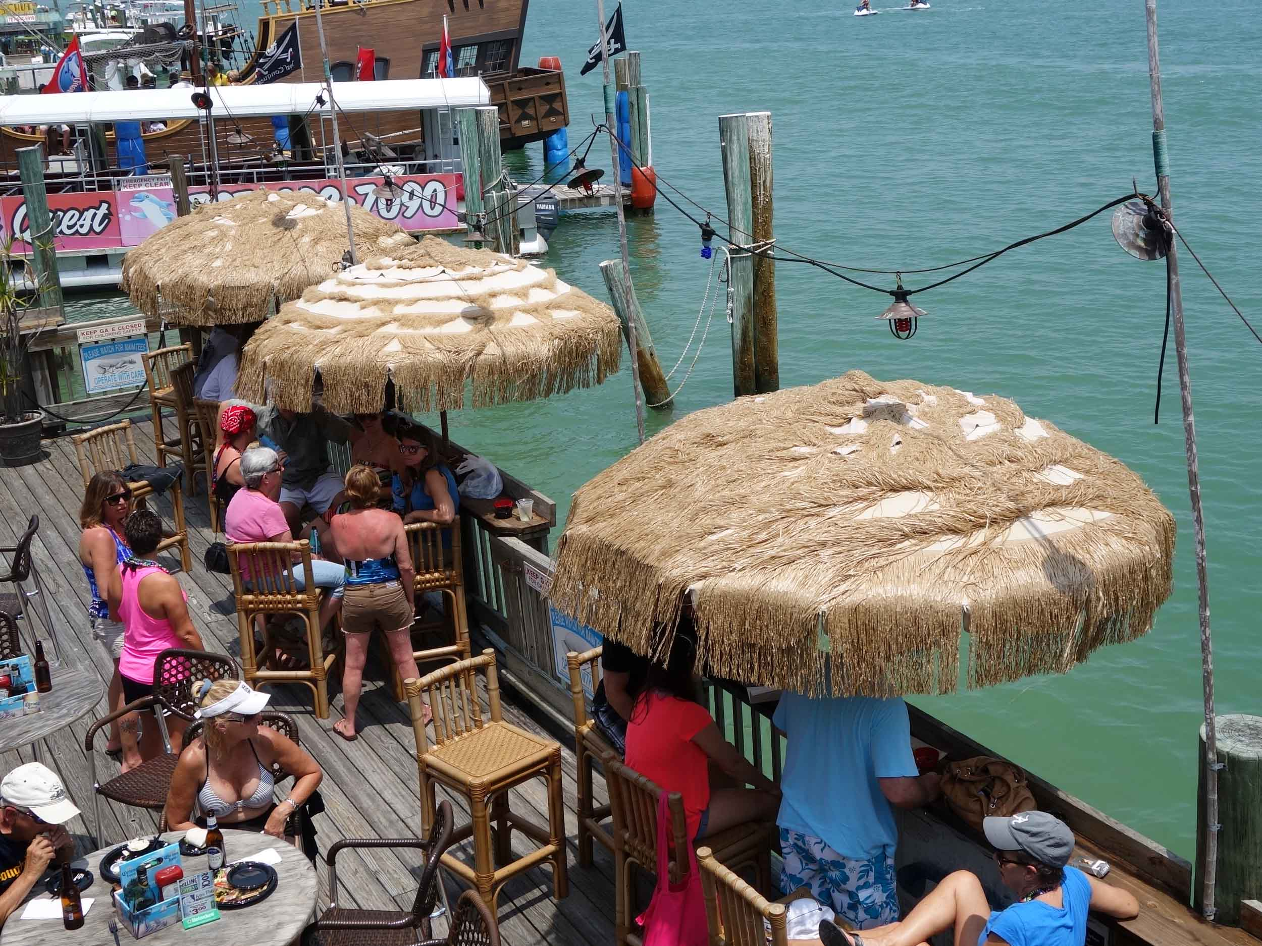 The Hut Bar and Grill Tables with Water View